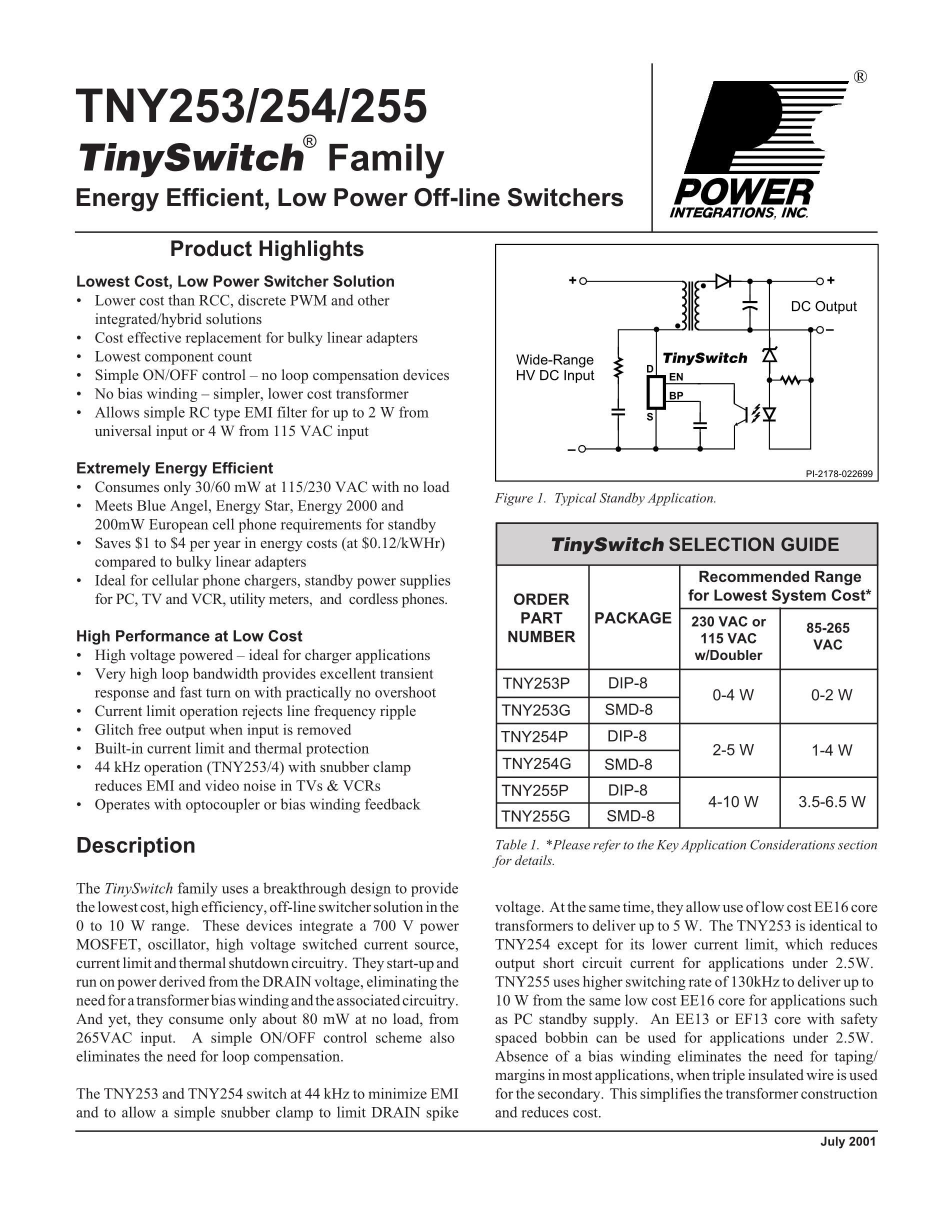 TNY280PN's pdf picture 1
