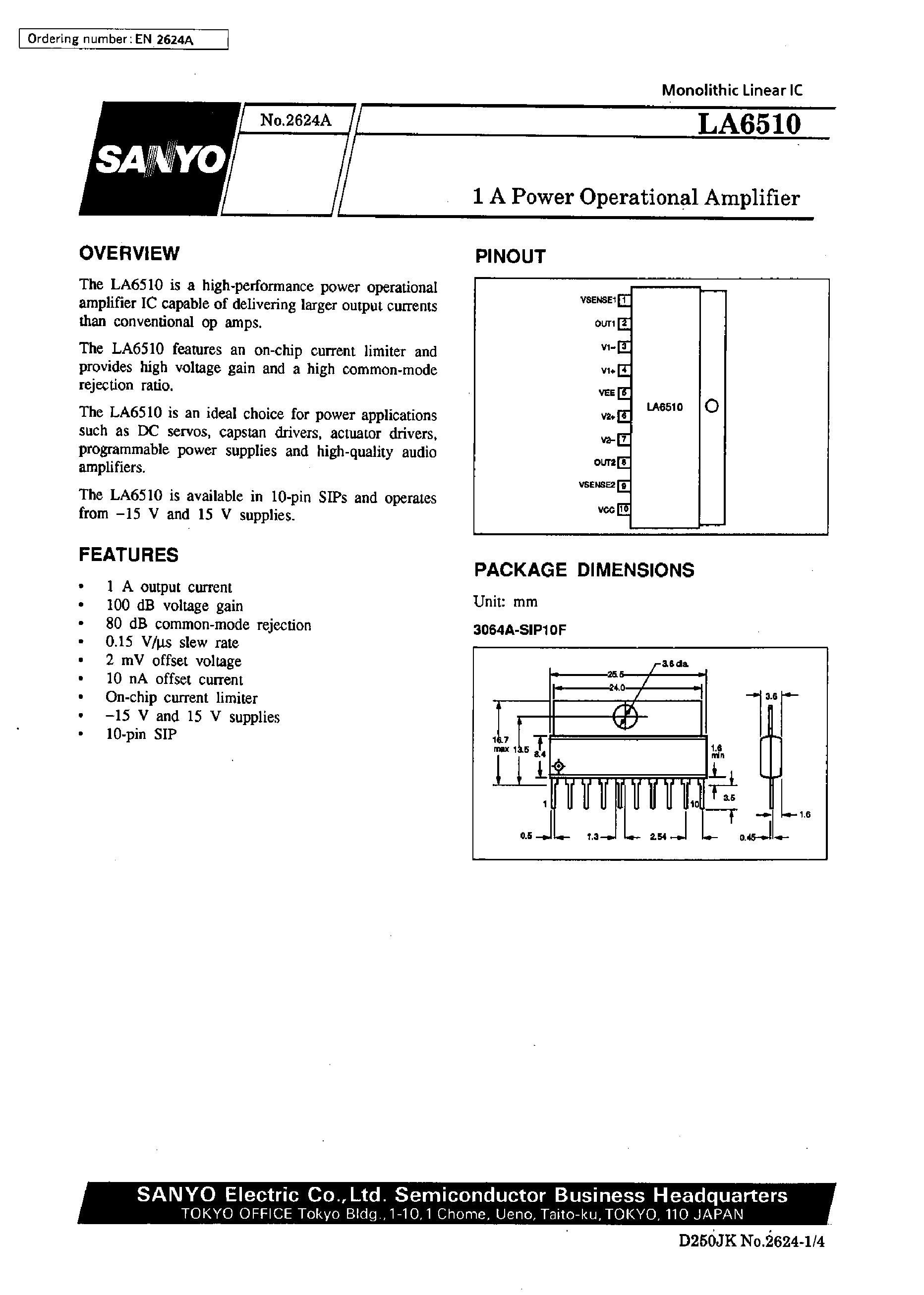 LA6501P's pdf picture 1