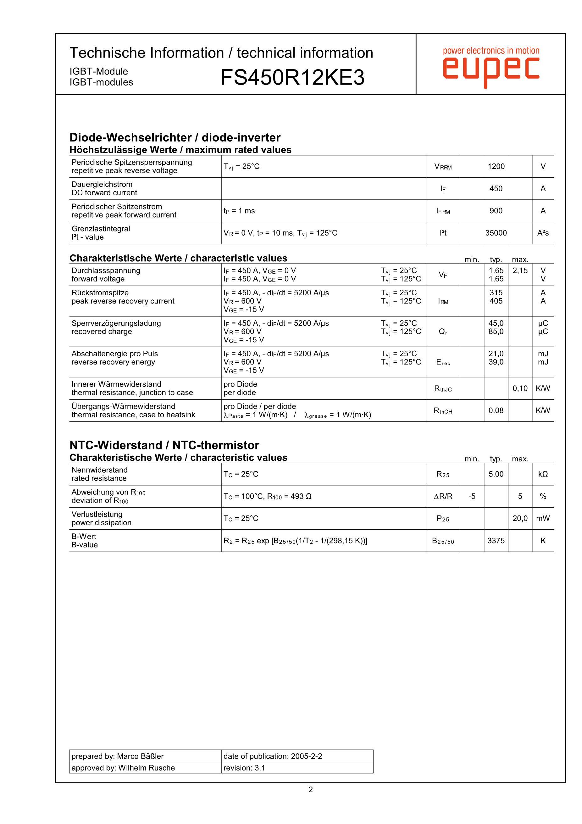 FS450R17KE3 AGDR-61C's pdf picture 2