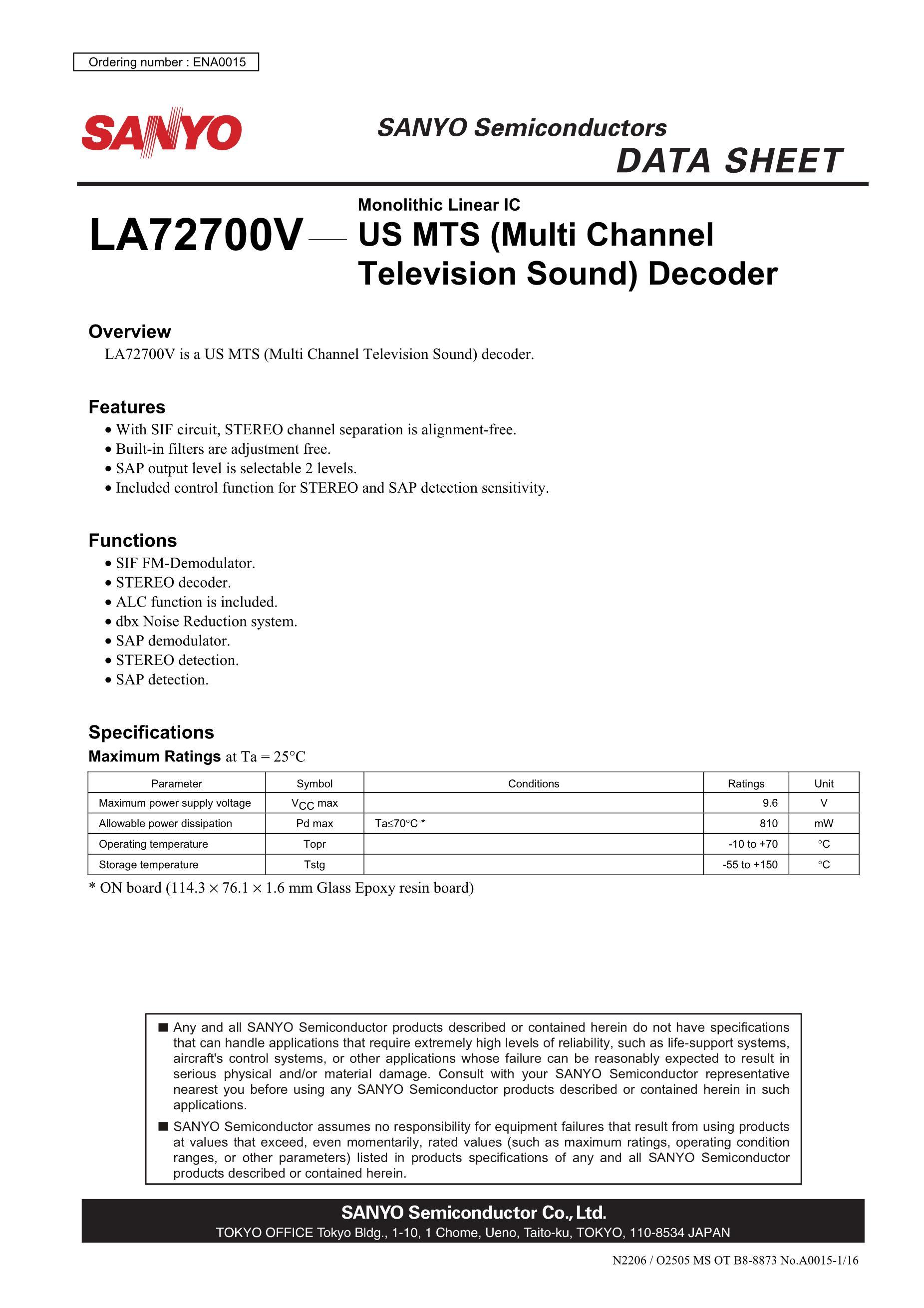 LA72703V-TLM-E's pdf picture 1