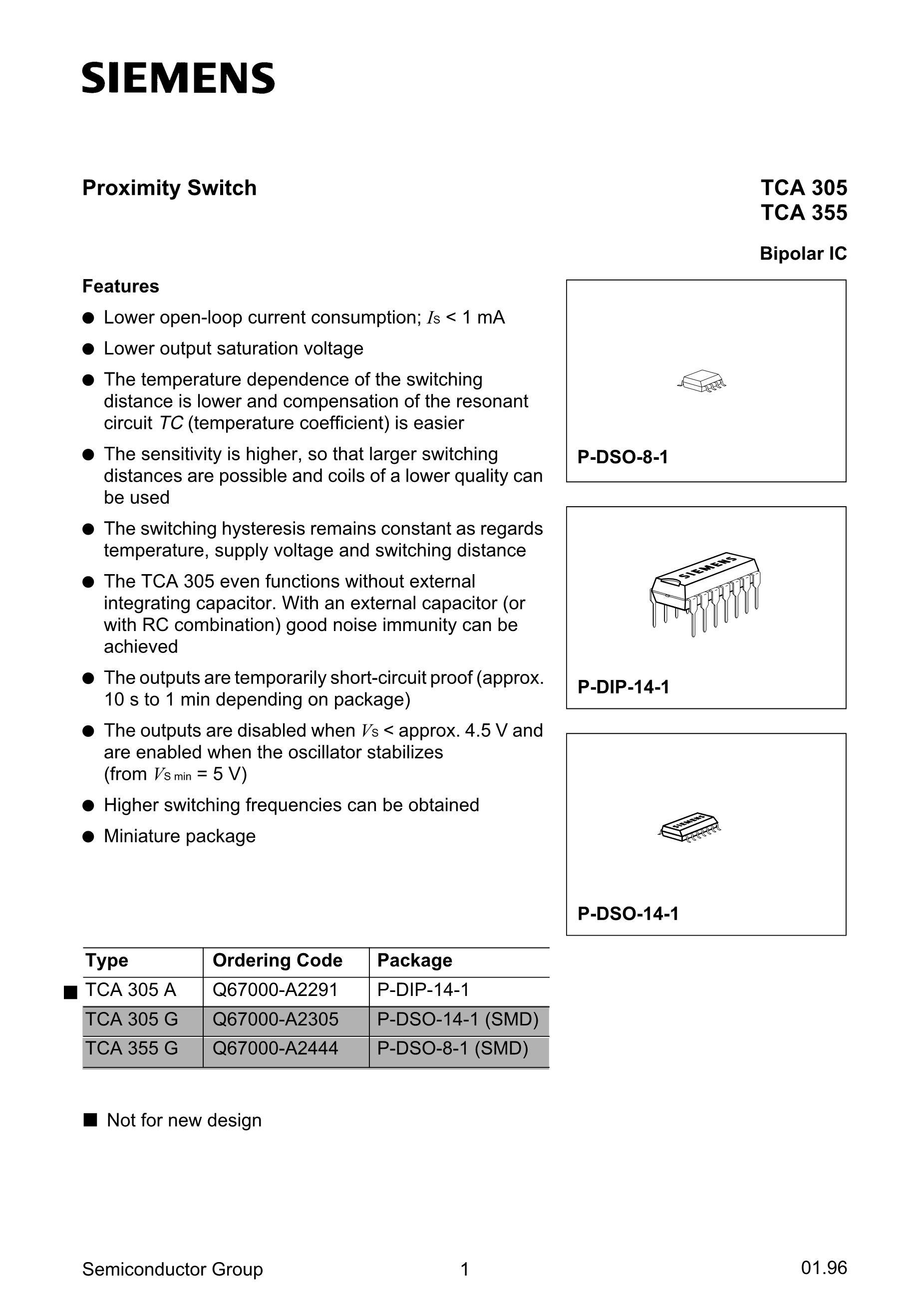 TCA305 CHIP's pdf picture 1