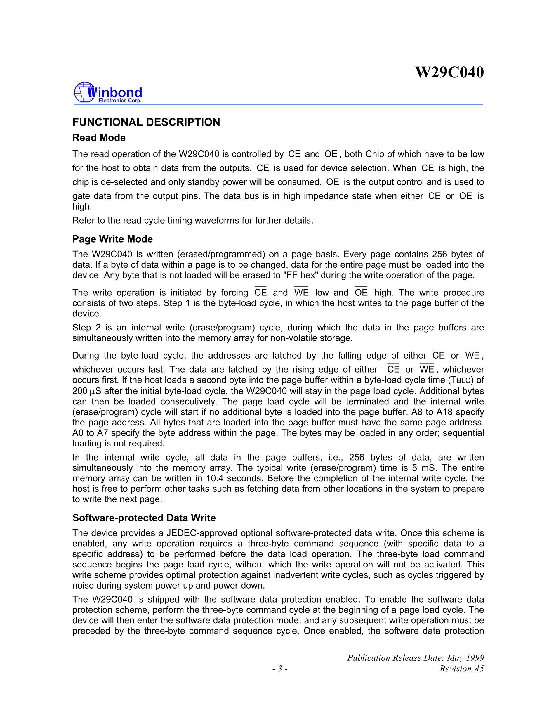 W29C020CP90B's pdf picture 3