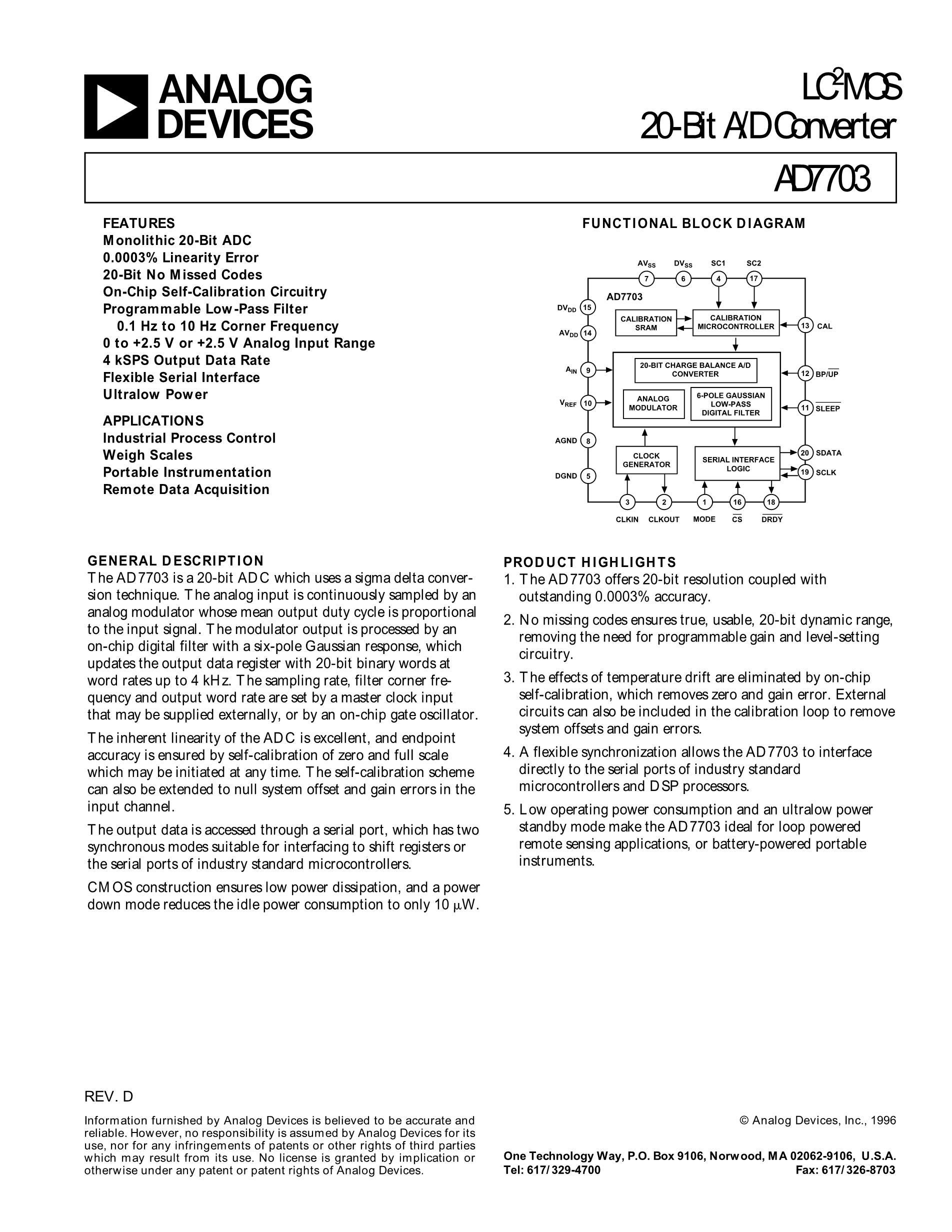 AD7740KRMZ-REEL7's pdf picture 1