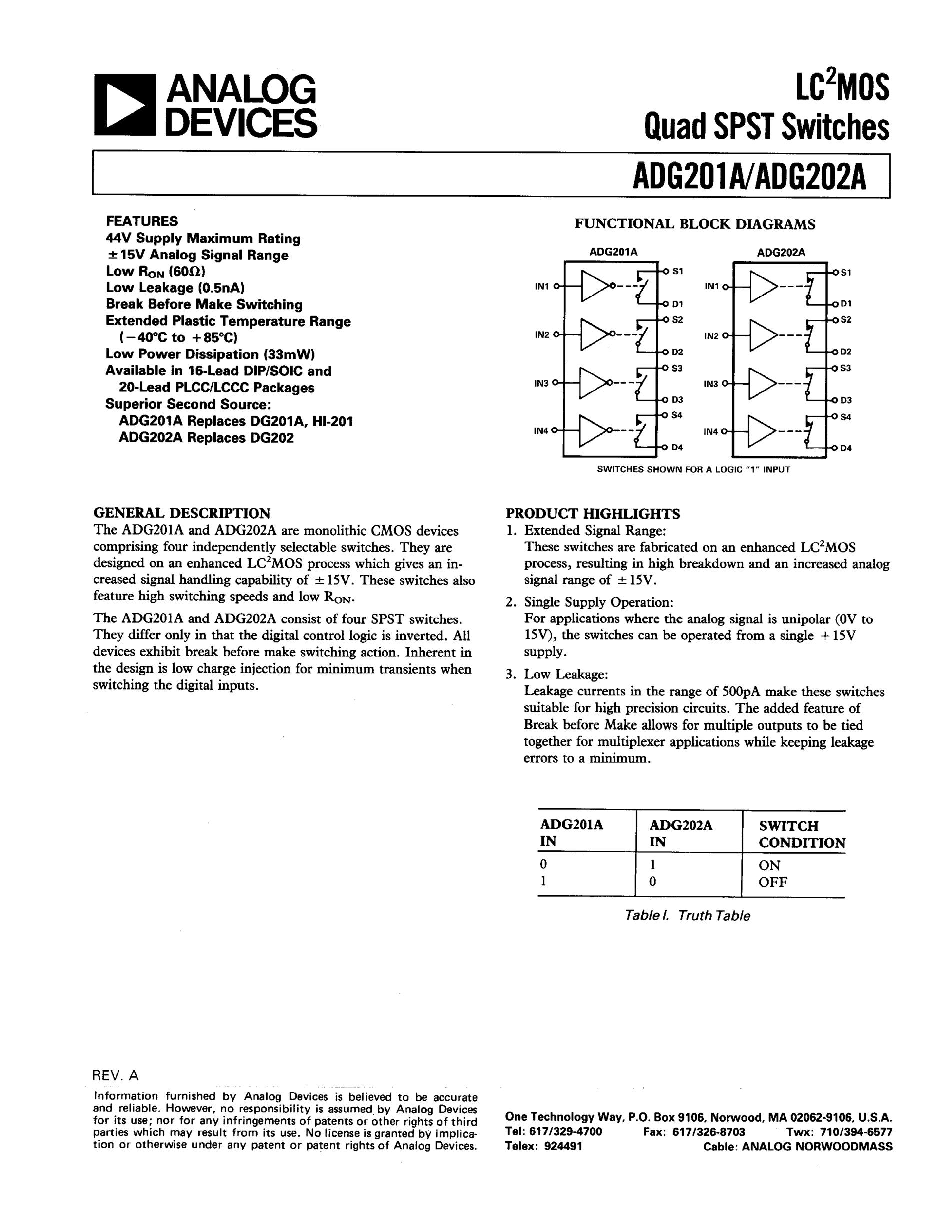 ADG201AKR's pdf picture 1