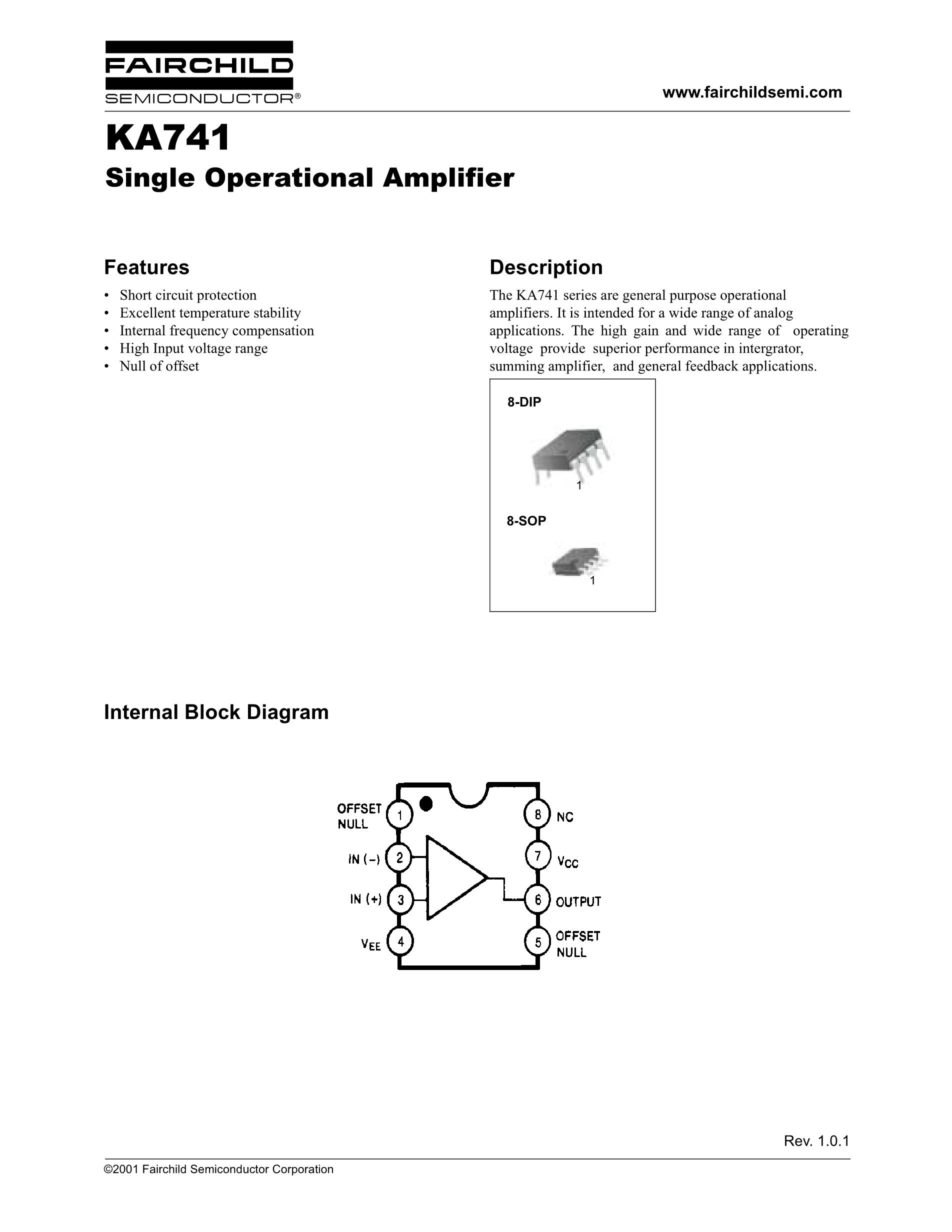 KA7405D's pdf picture 1