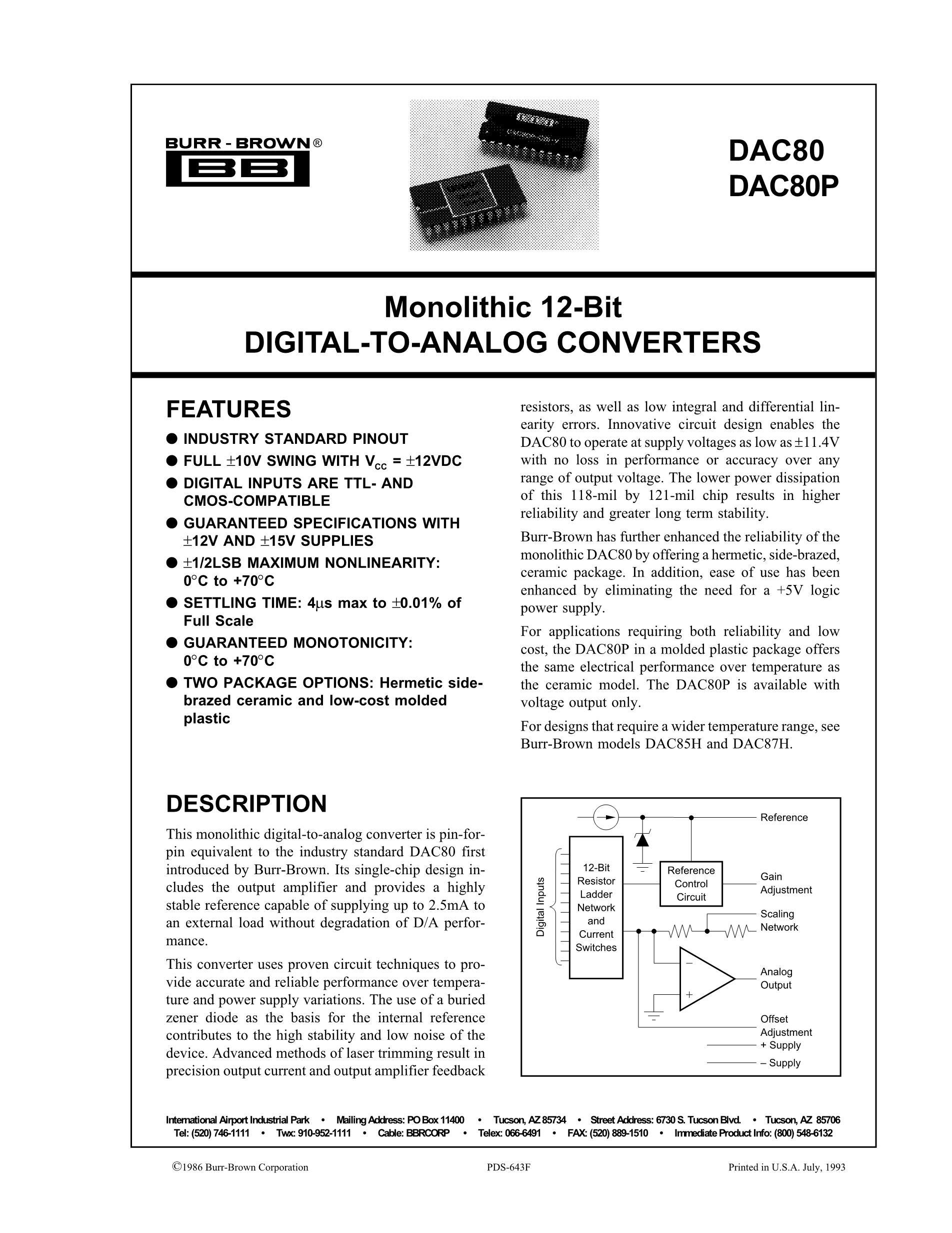 DAC8742HPBS's pdf picture 1