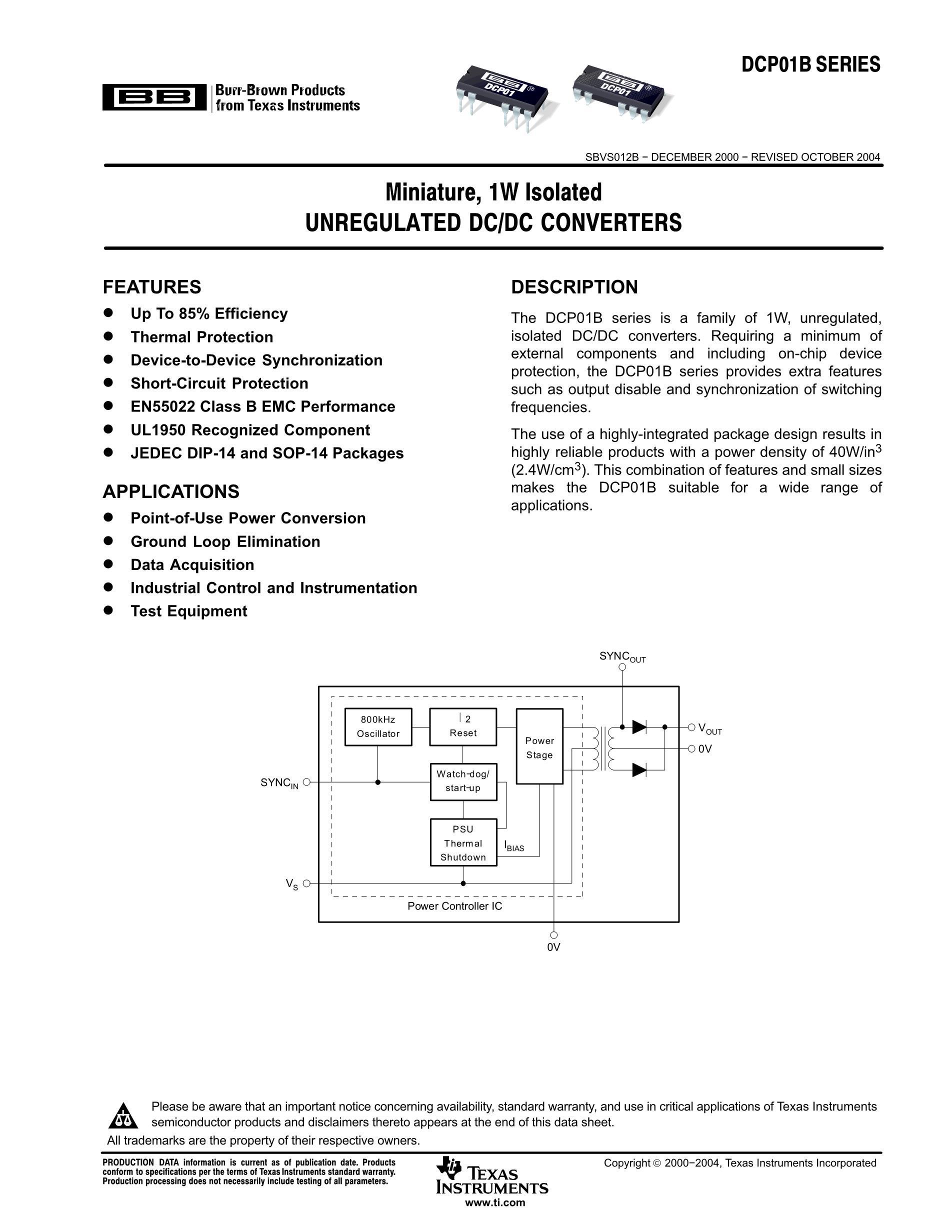DCP010505DBP-U/700's pdf picture 1