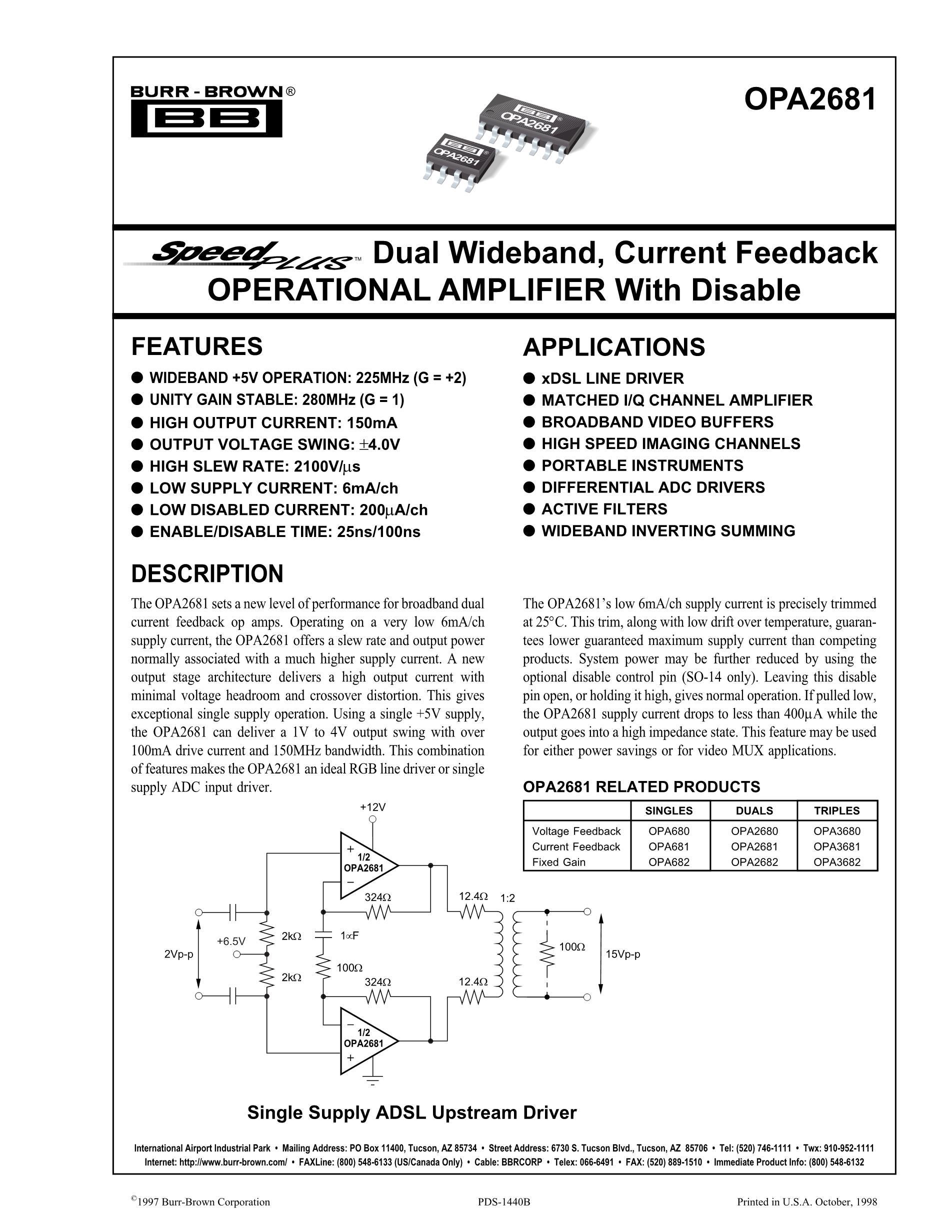 OPA2681's pdf picture 1