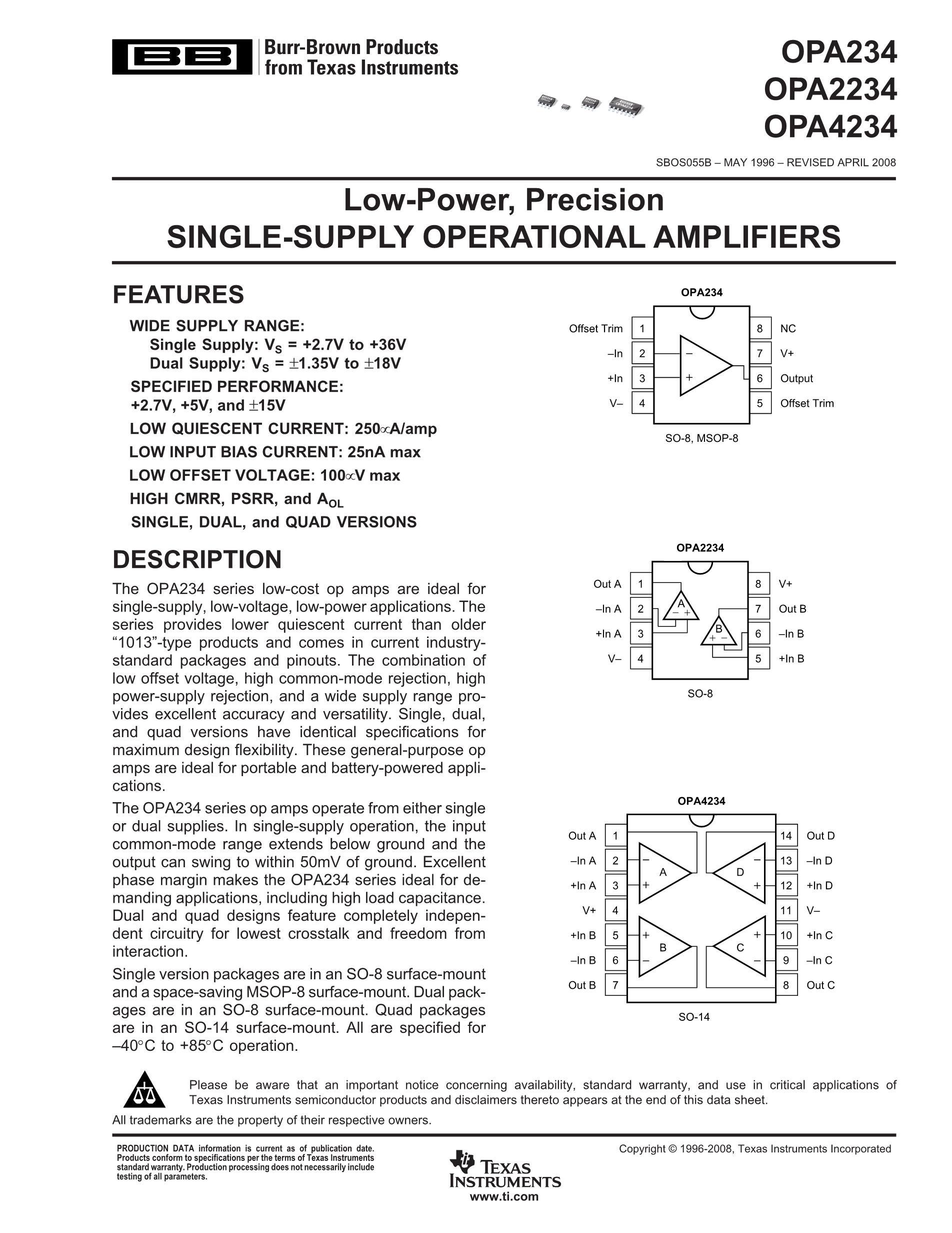 OPA2234UA's pdf picture 1
