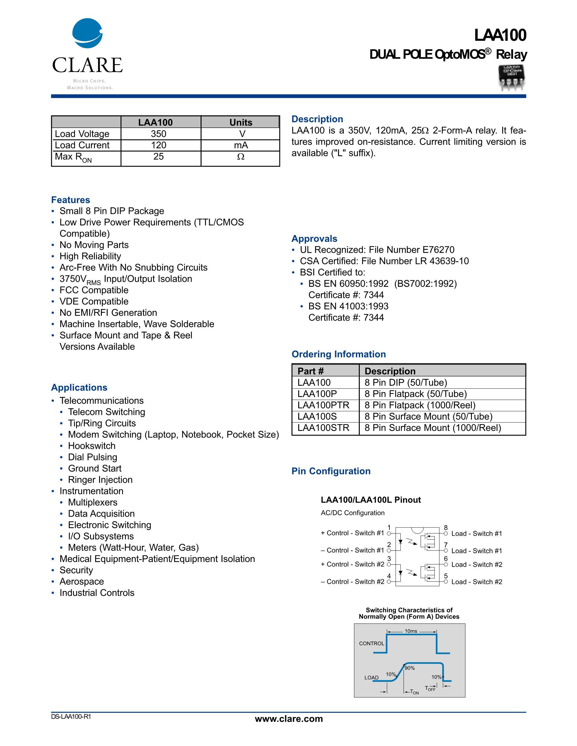 LAA125STR's pdf picture 1