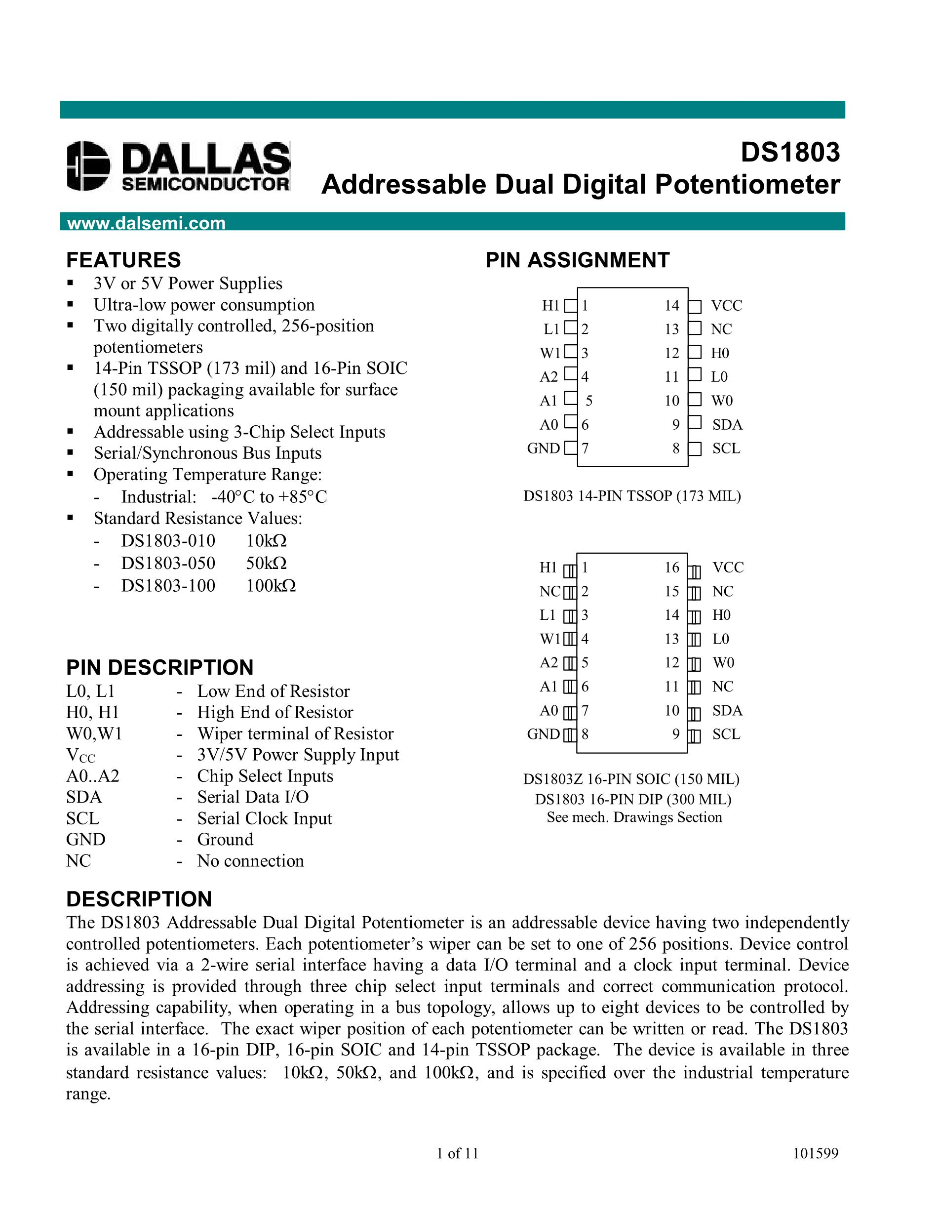 DS1862AB+'s pdf picture 1