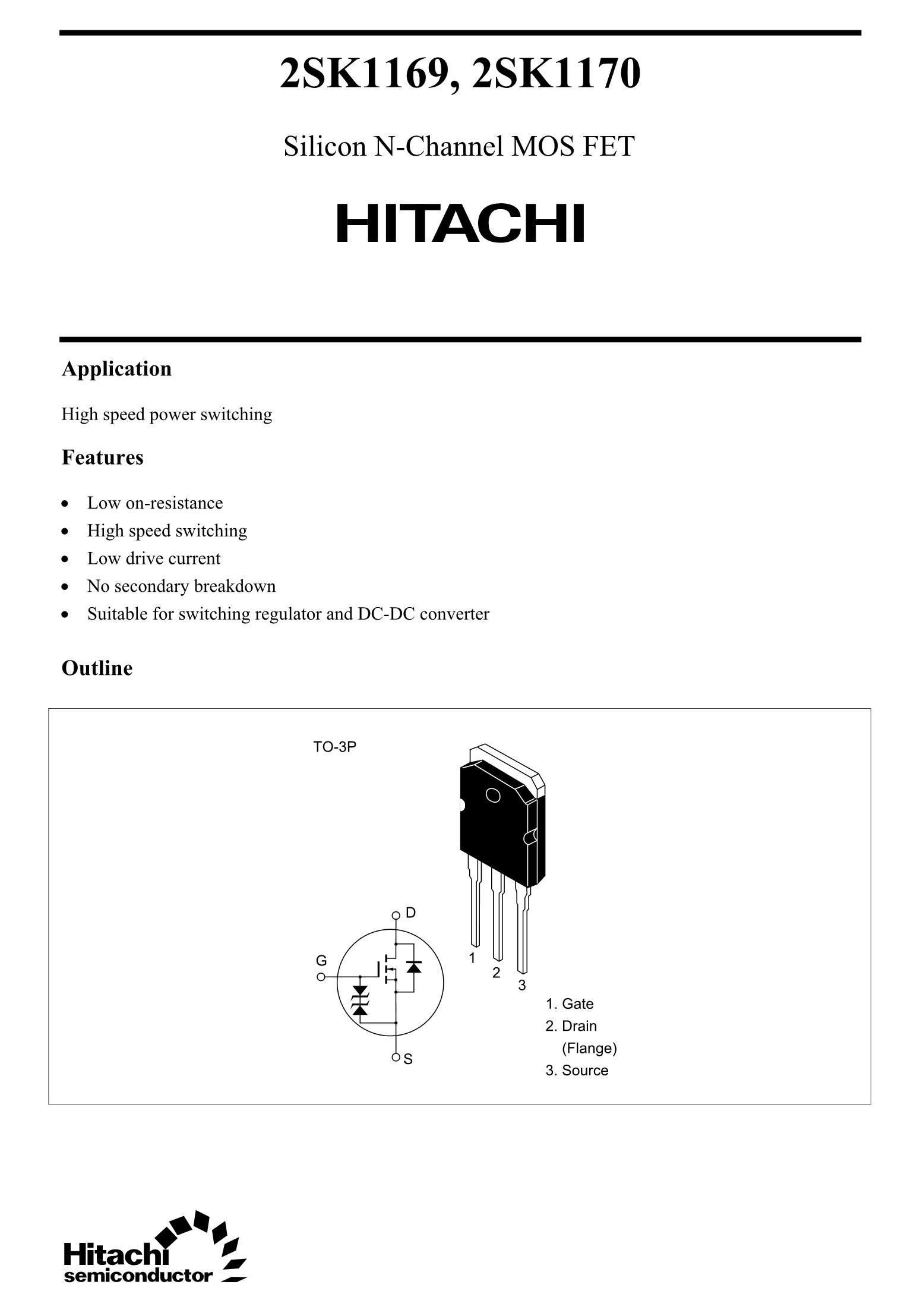 2SK1170's pdf picture 1