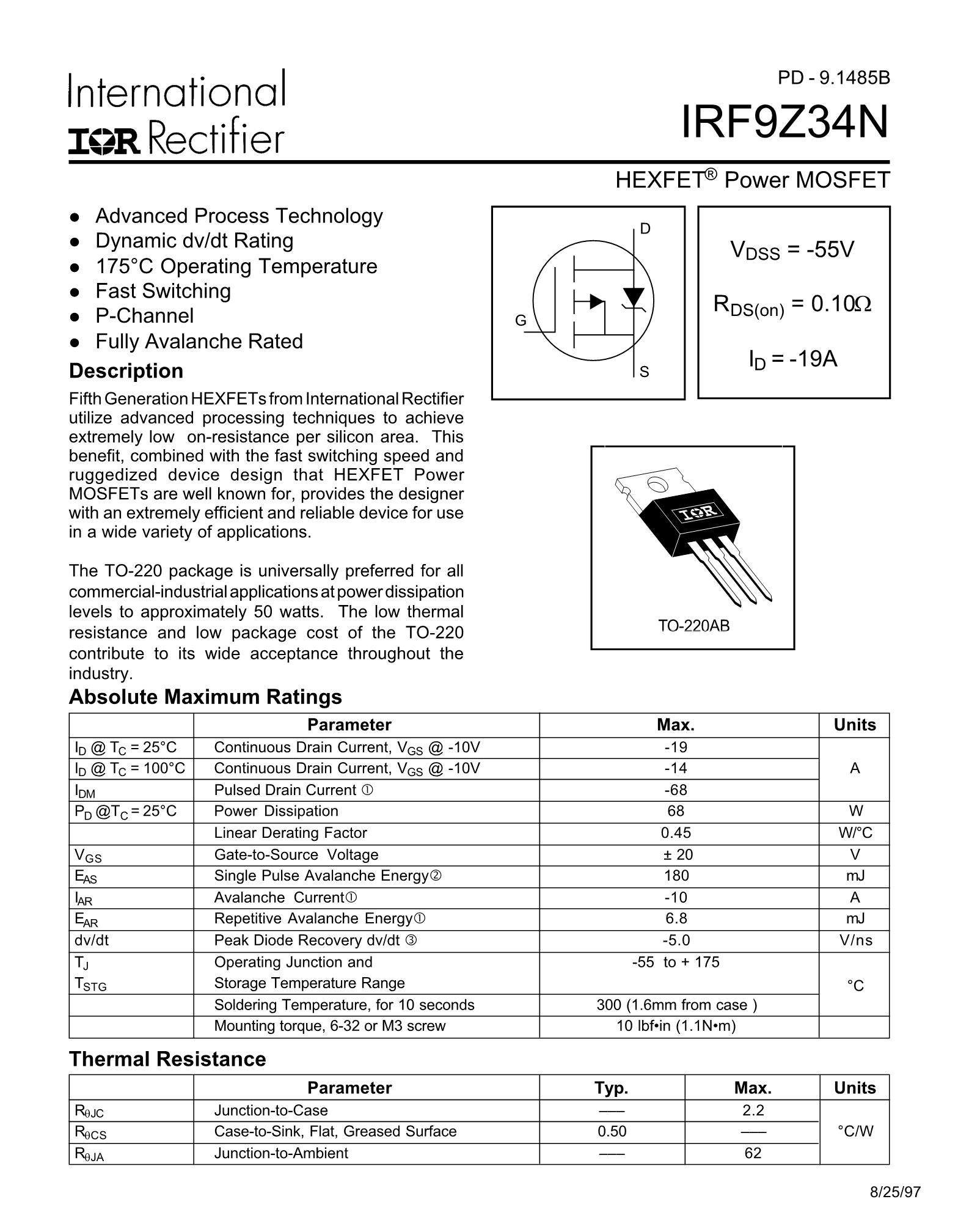 IRF9Z34N's pdf picture 1