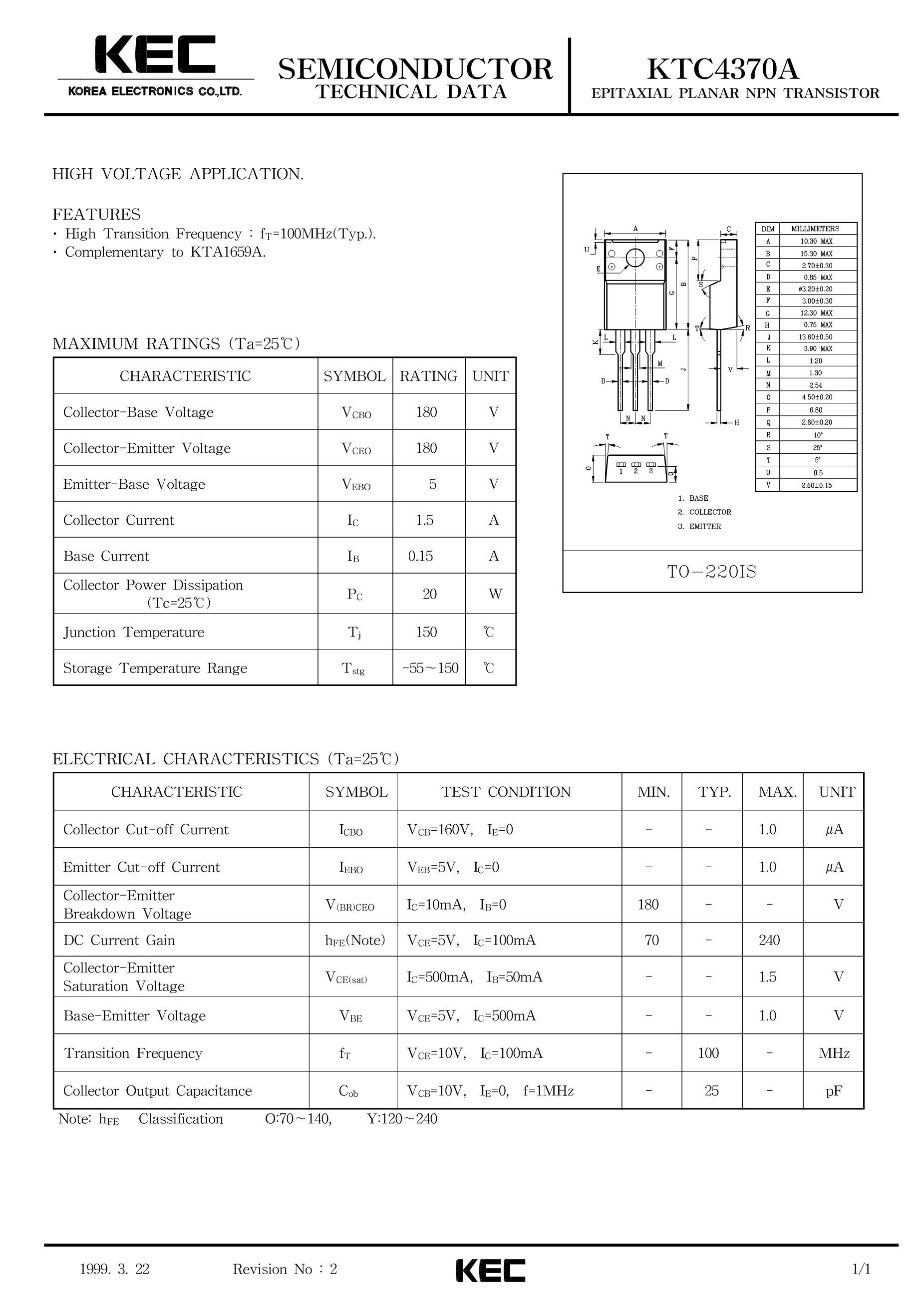 KTC4075-Y's pdf picture 1