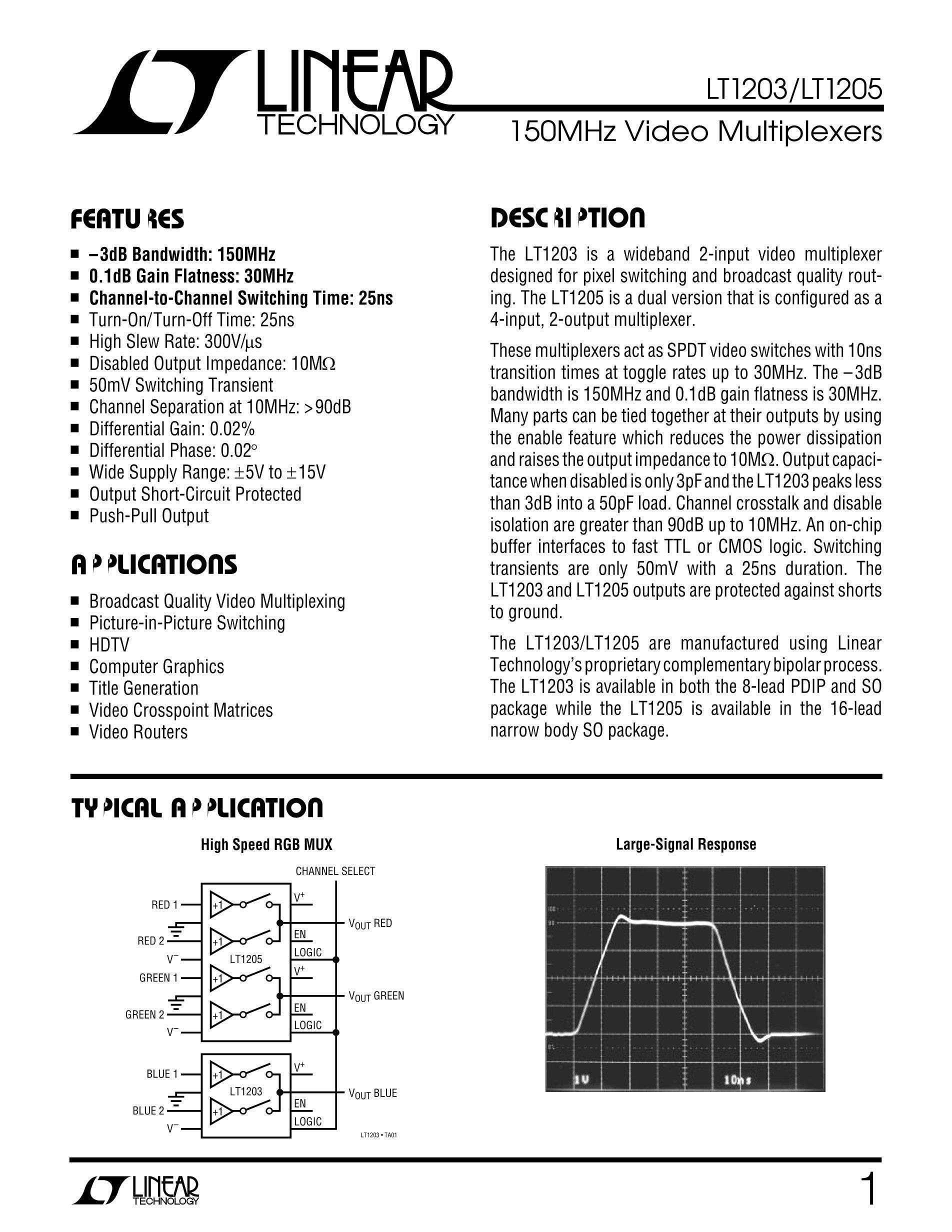 LT1210CR's pdf picture 1