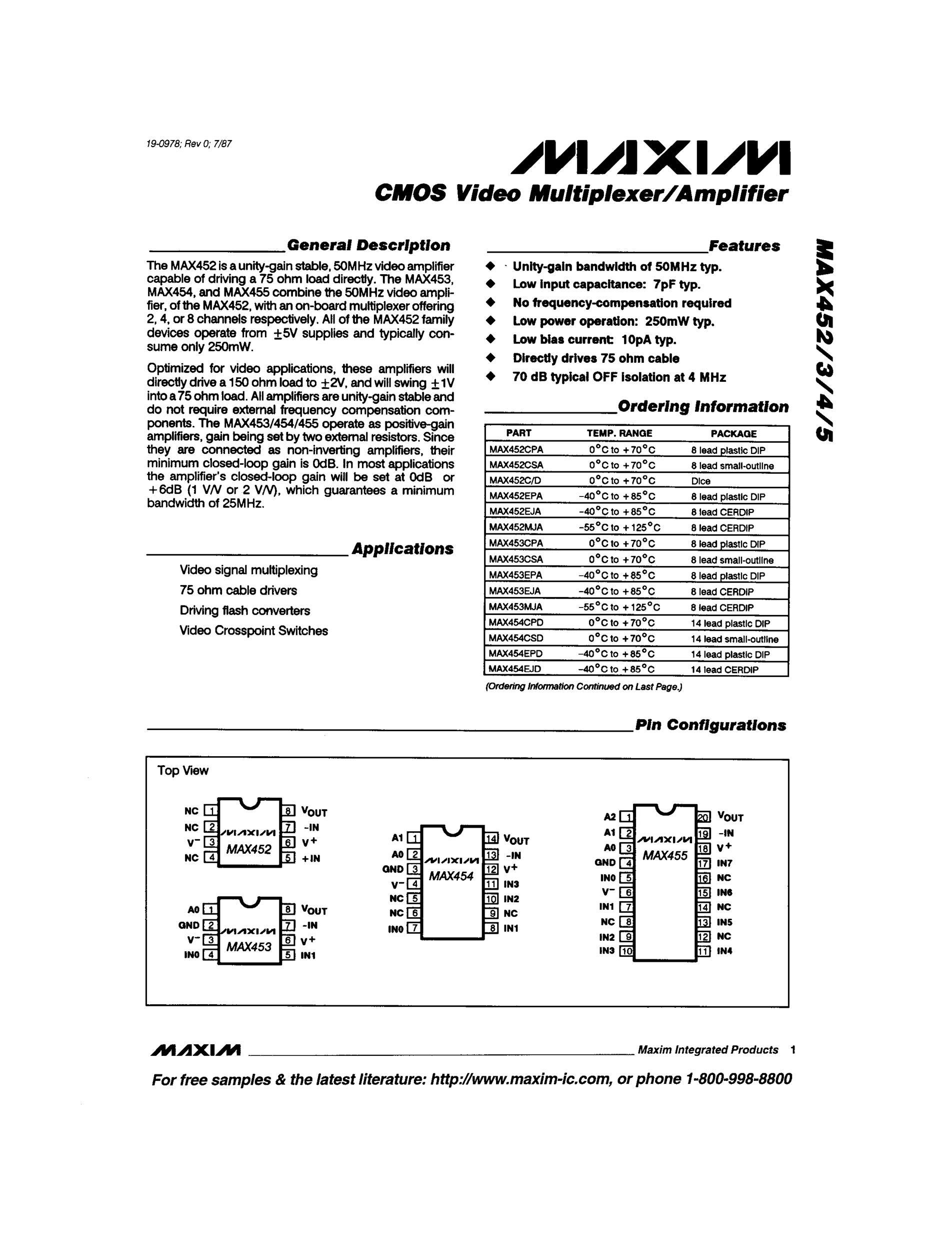 MAX452CPA's pdf picture 1