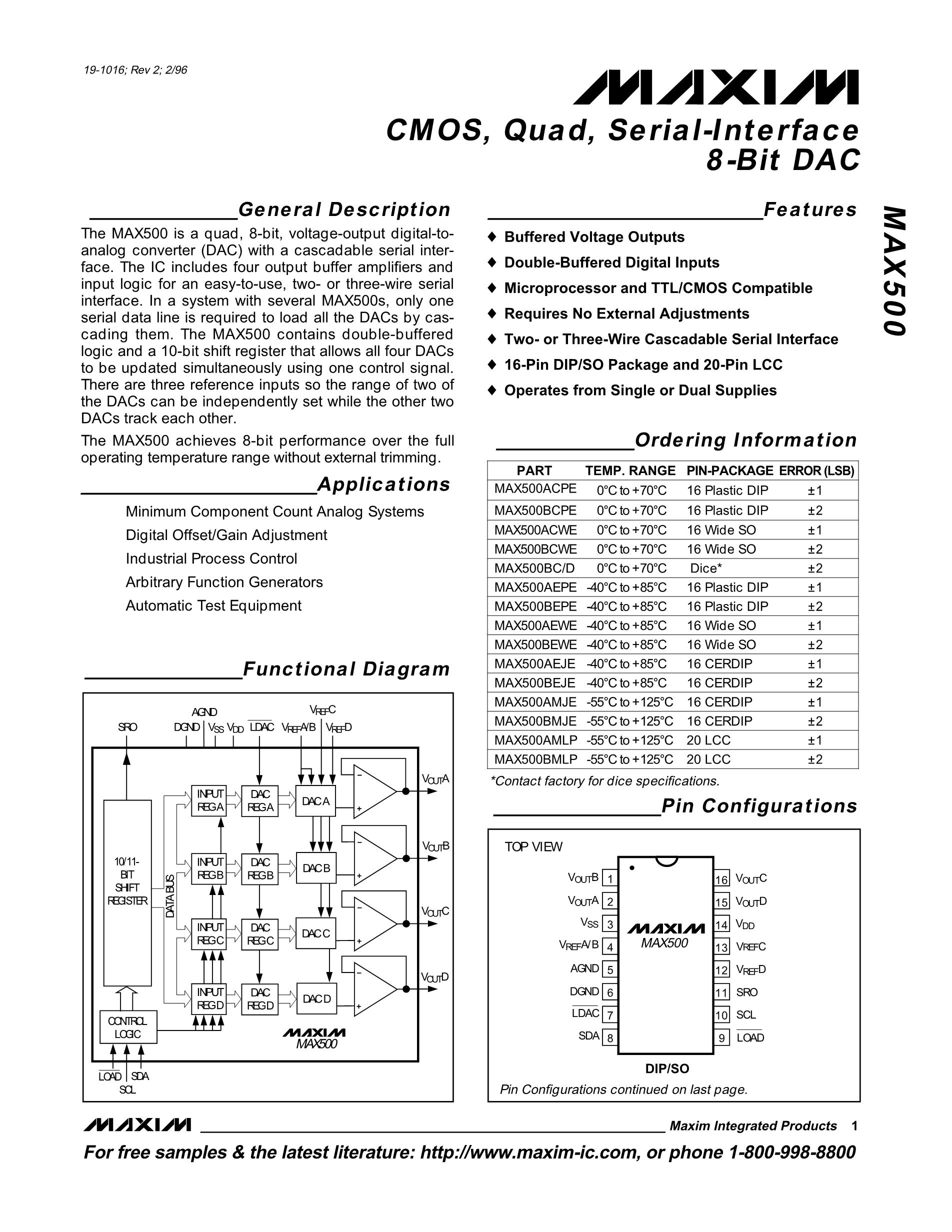 MAX5426BEUD+'s pdf picture 1