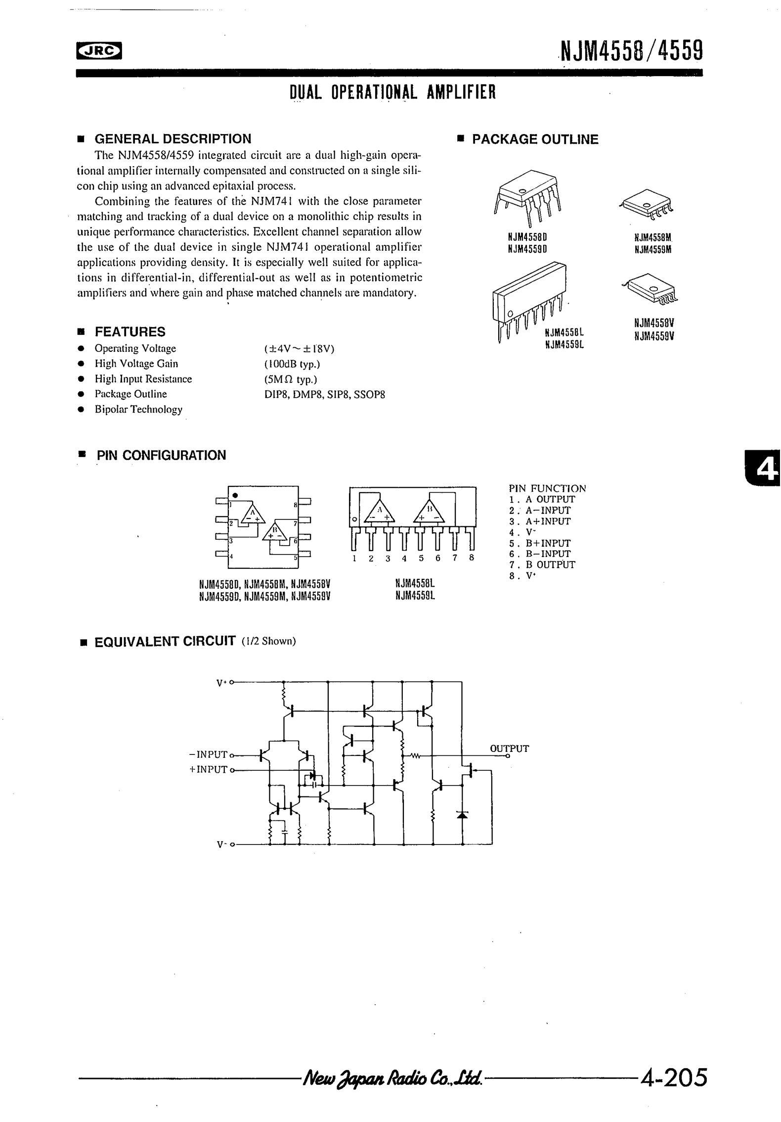NJM4580V(TE2)'s pdf picture 1