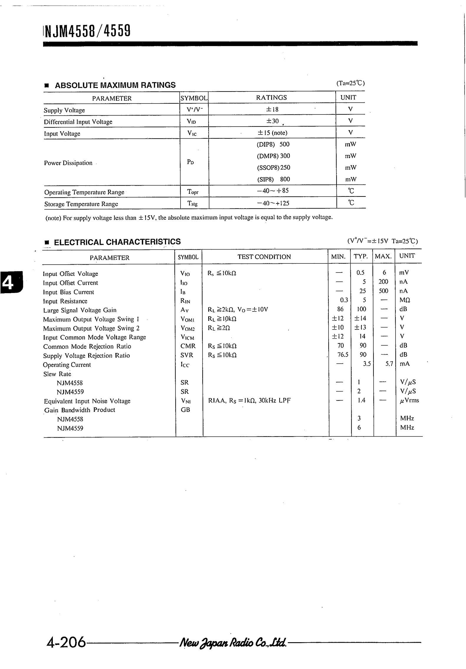 NJM4580V(TE2)'s pdf picture 2