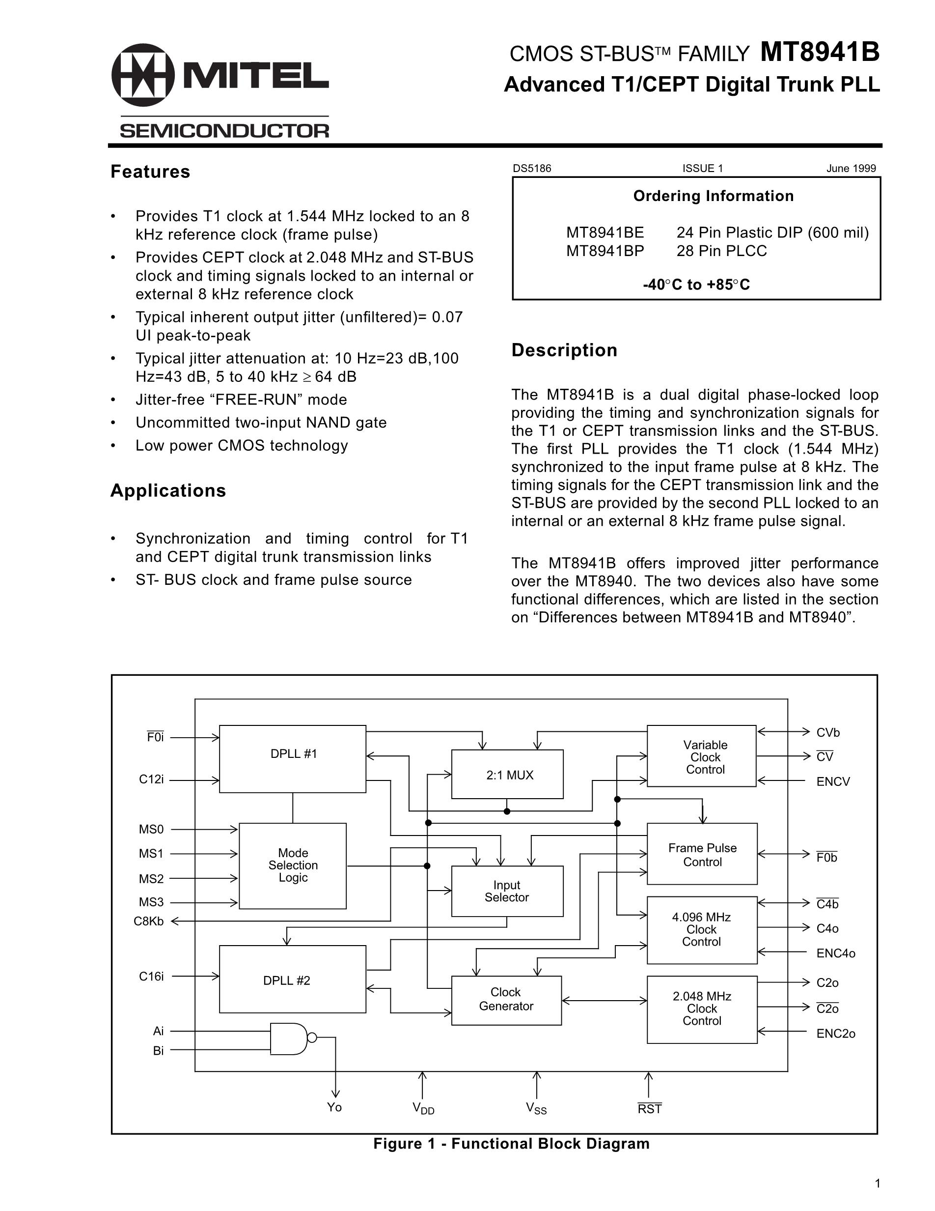 MT8979AC's pdf picture 1