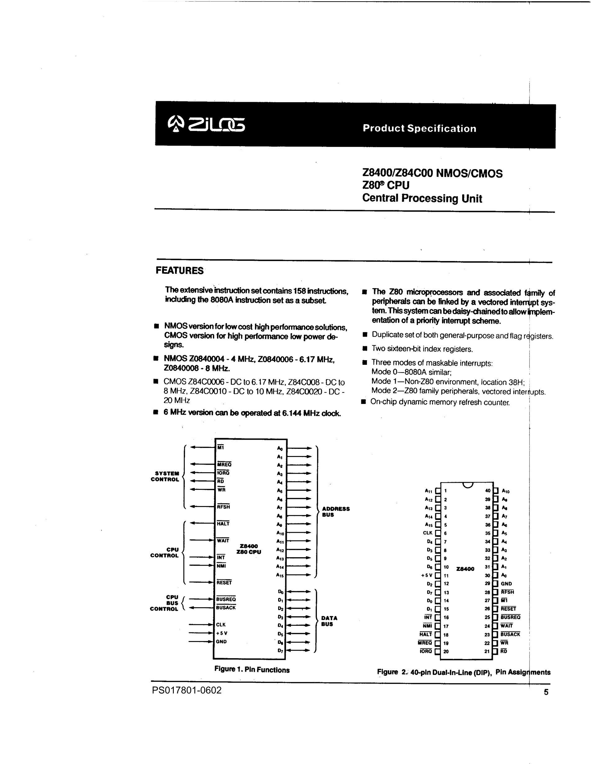 Z84C0010FEG's pdf picture 1
