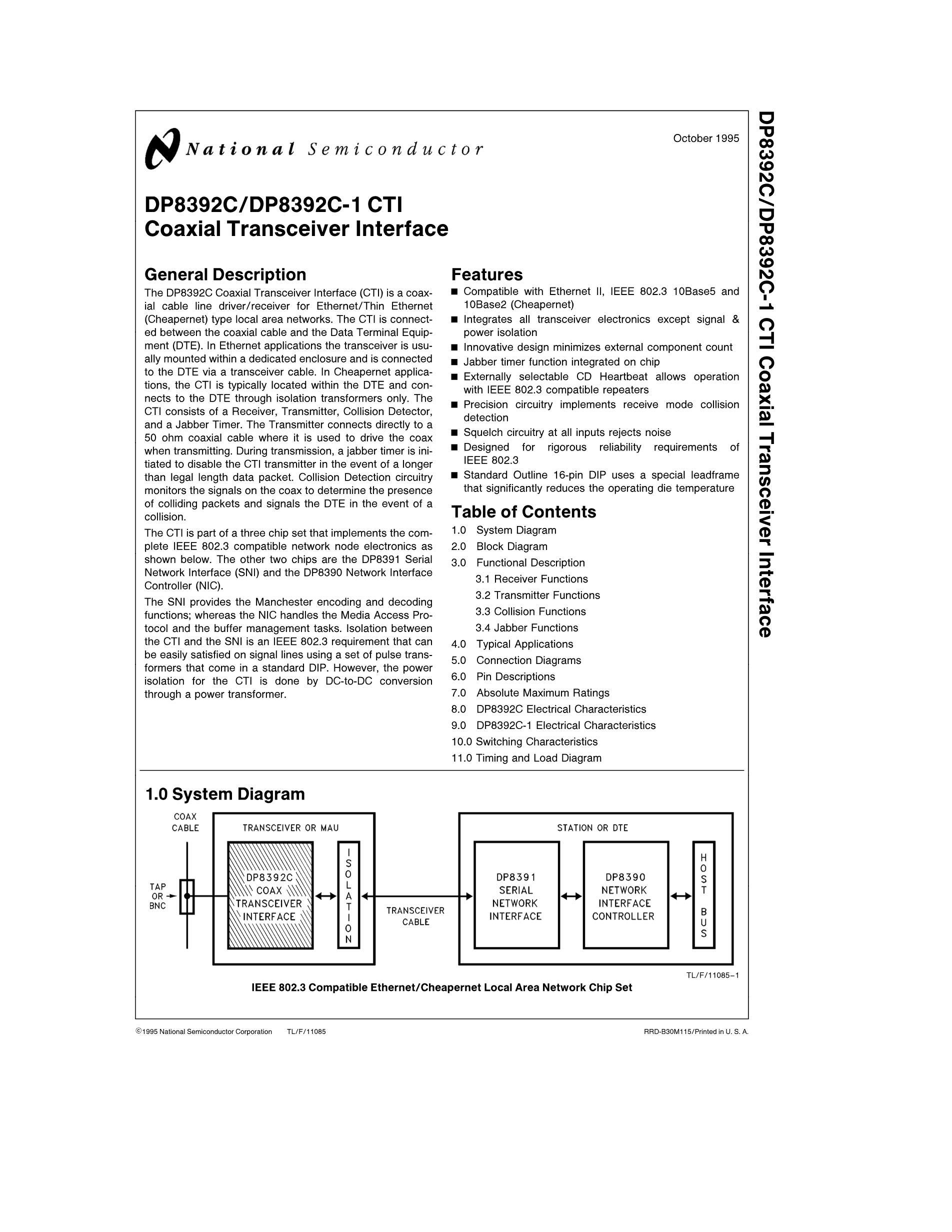 DP83902AVJG/NOPB's pdf picture 1