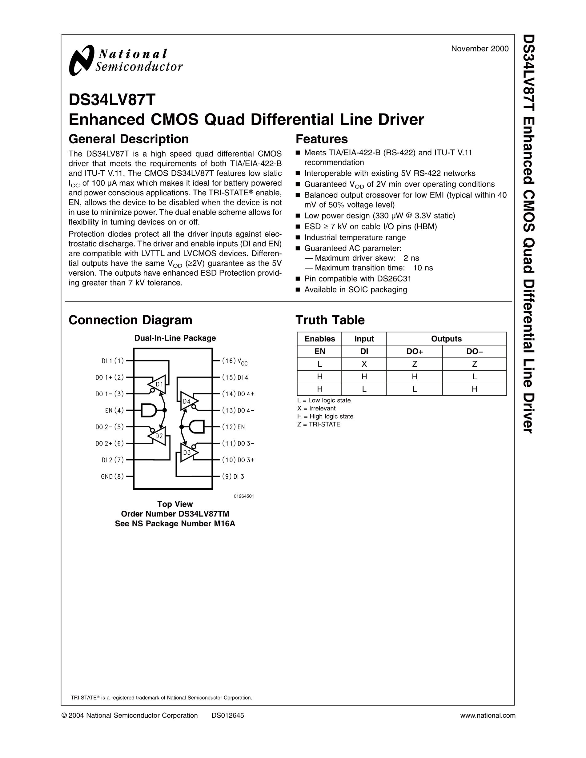 DS34RT5110TSQ/NOPB's pdf picture 1