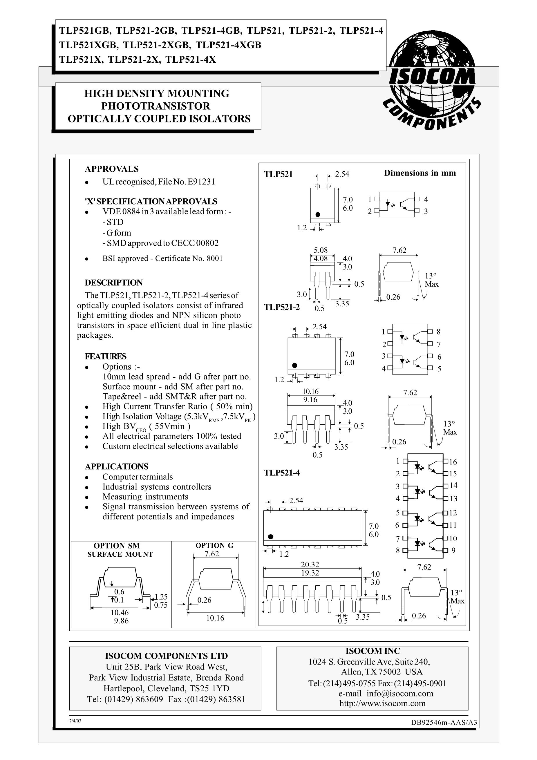 TLP521-2(GB)'s pdf picture 1