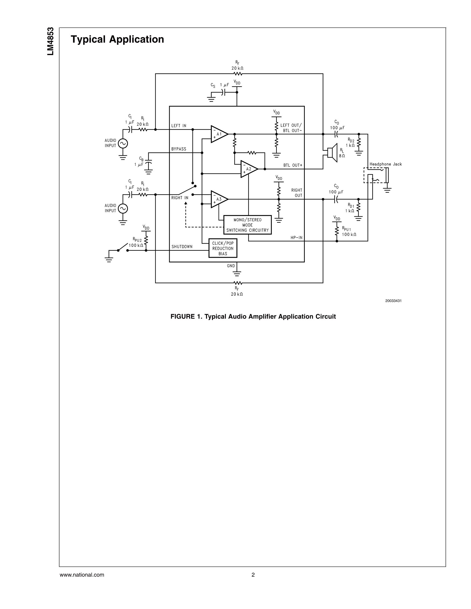LM4888SQ/NOPB's pdf picture 2