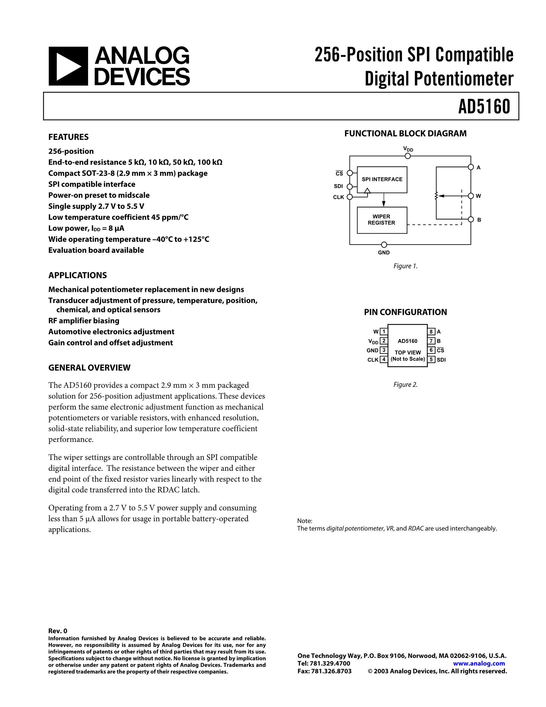 AD5170BRMZ100-RL7's pdf picture 1