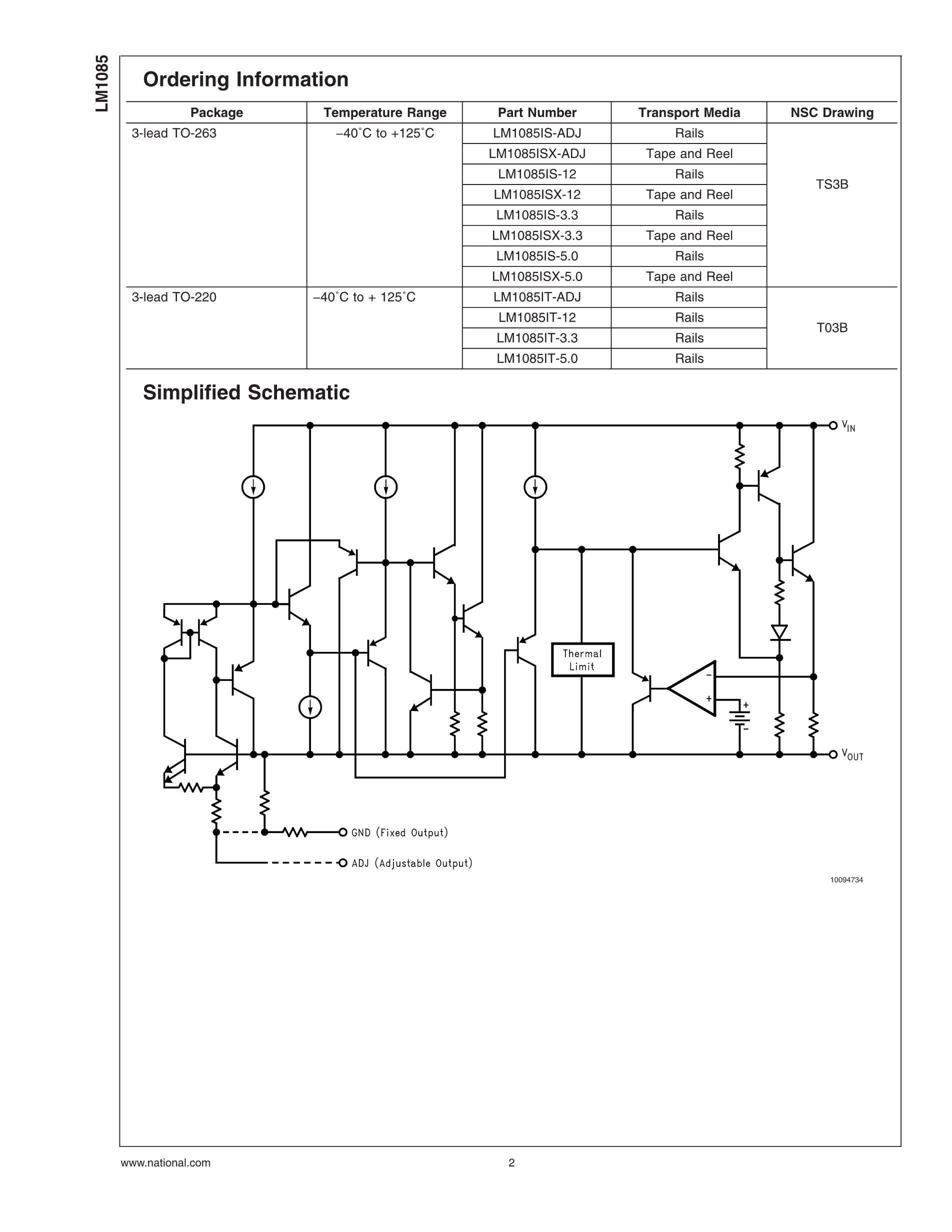 LM1085IT-ADJ's pdf picture 2