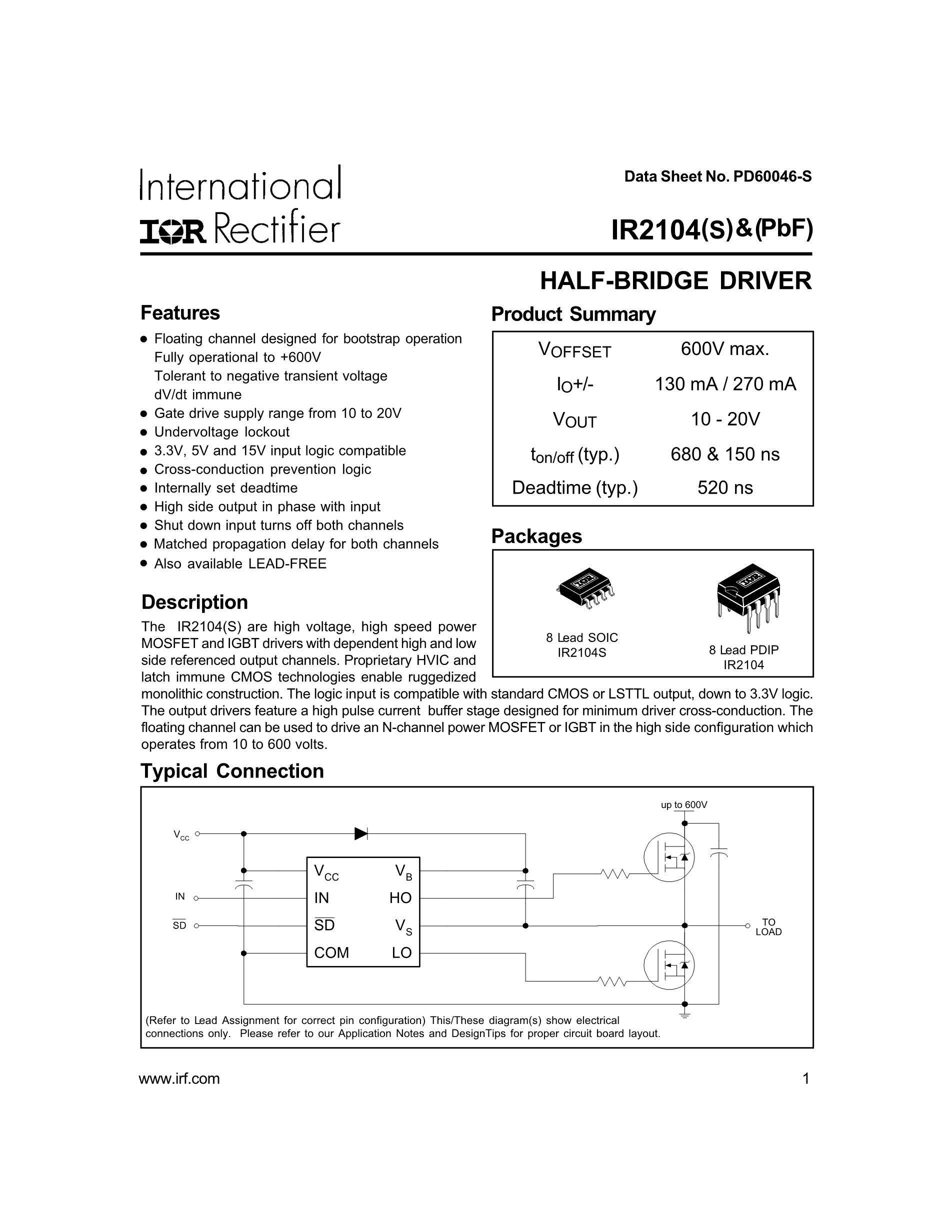 IR2156STRPBF's pdf picture 1