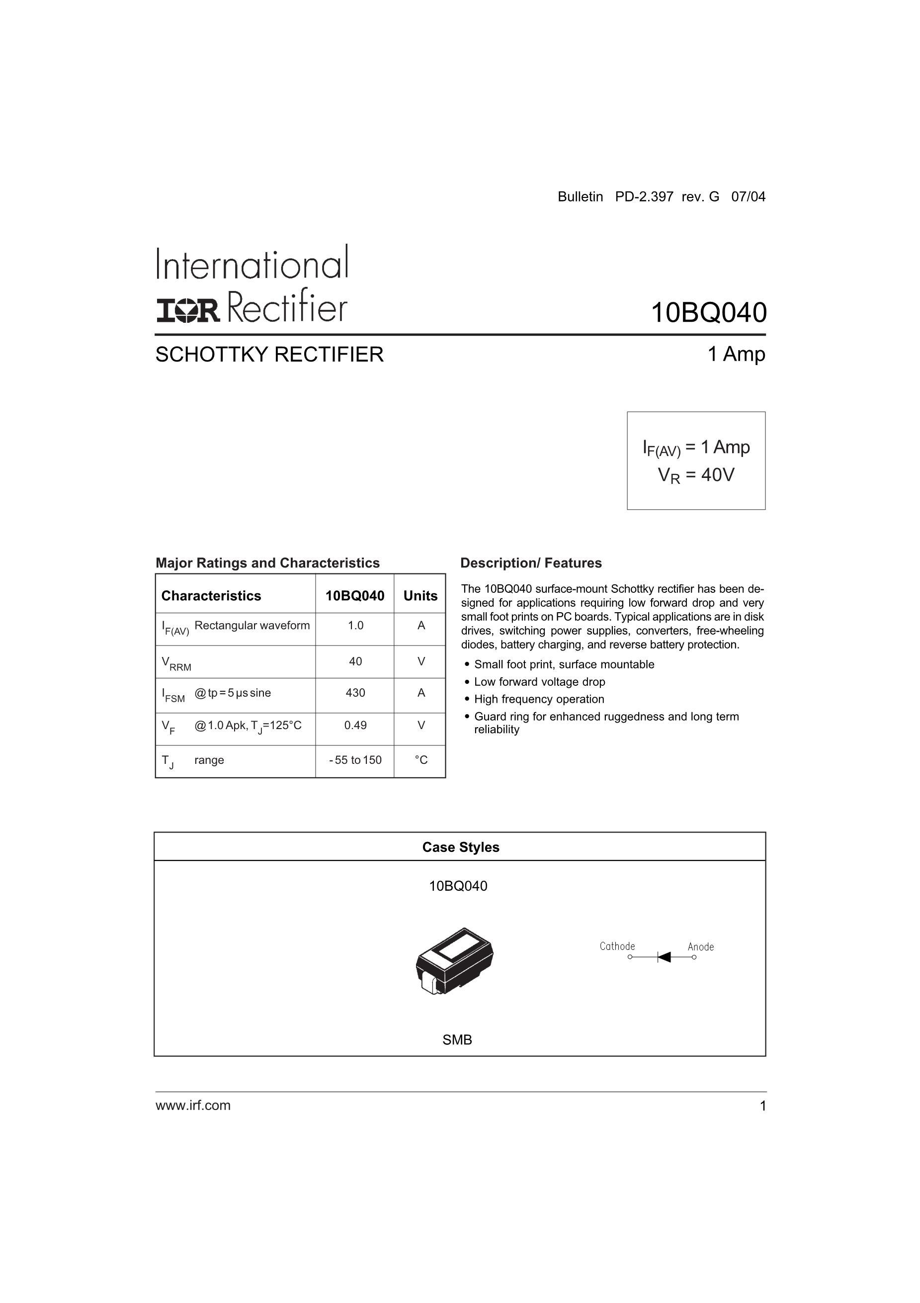 10BQ040TR's pdf picture 1