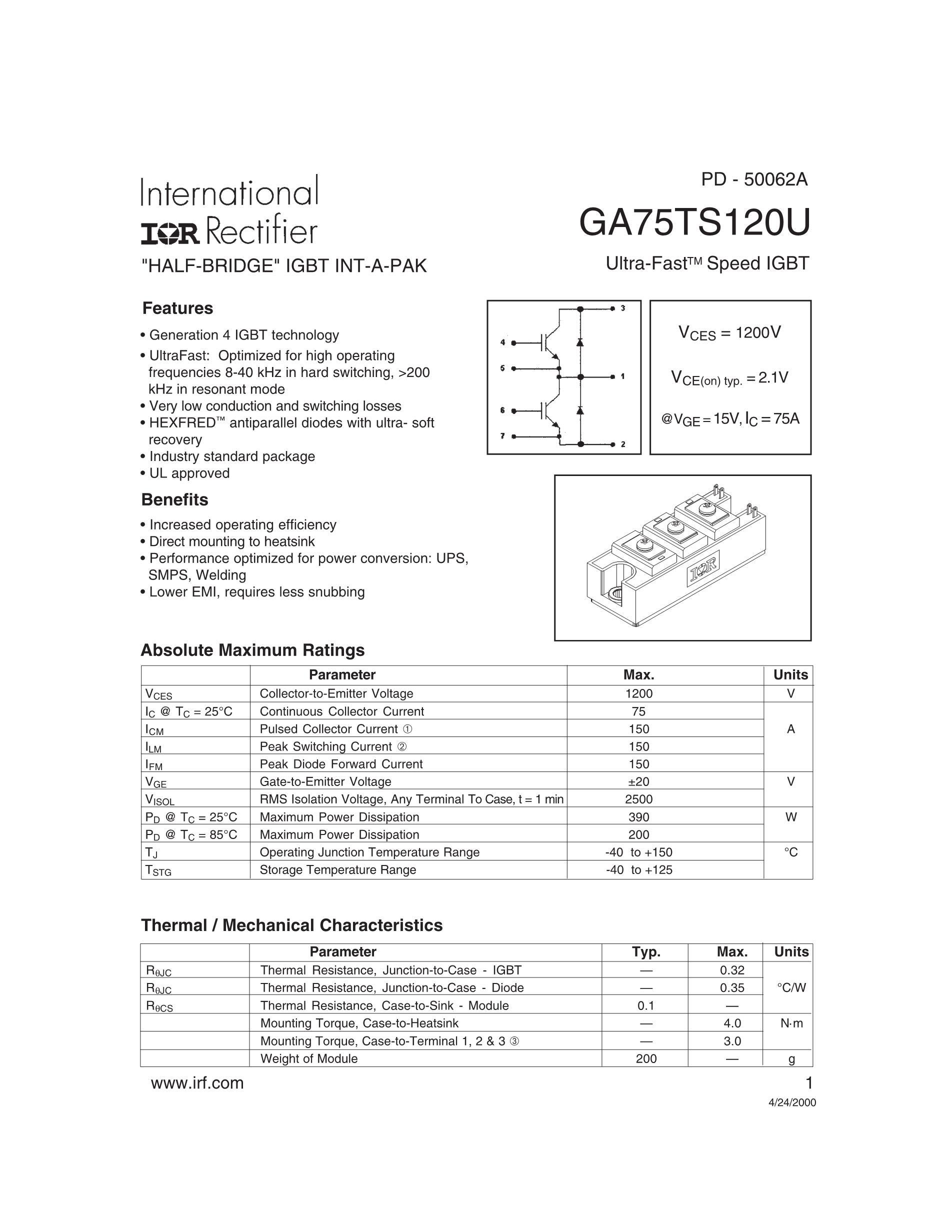 GA75TS60U5B10's pdf picture 1