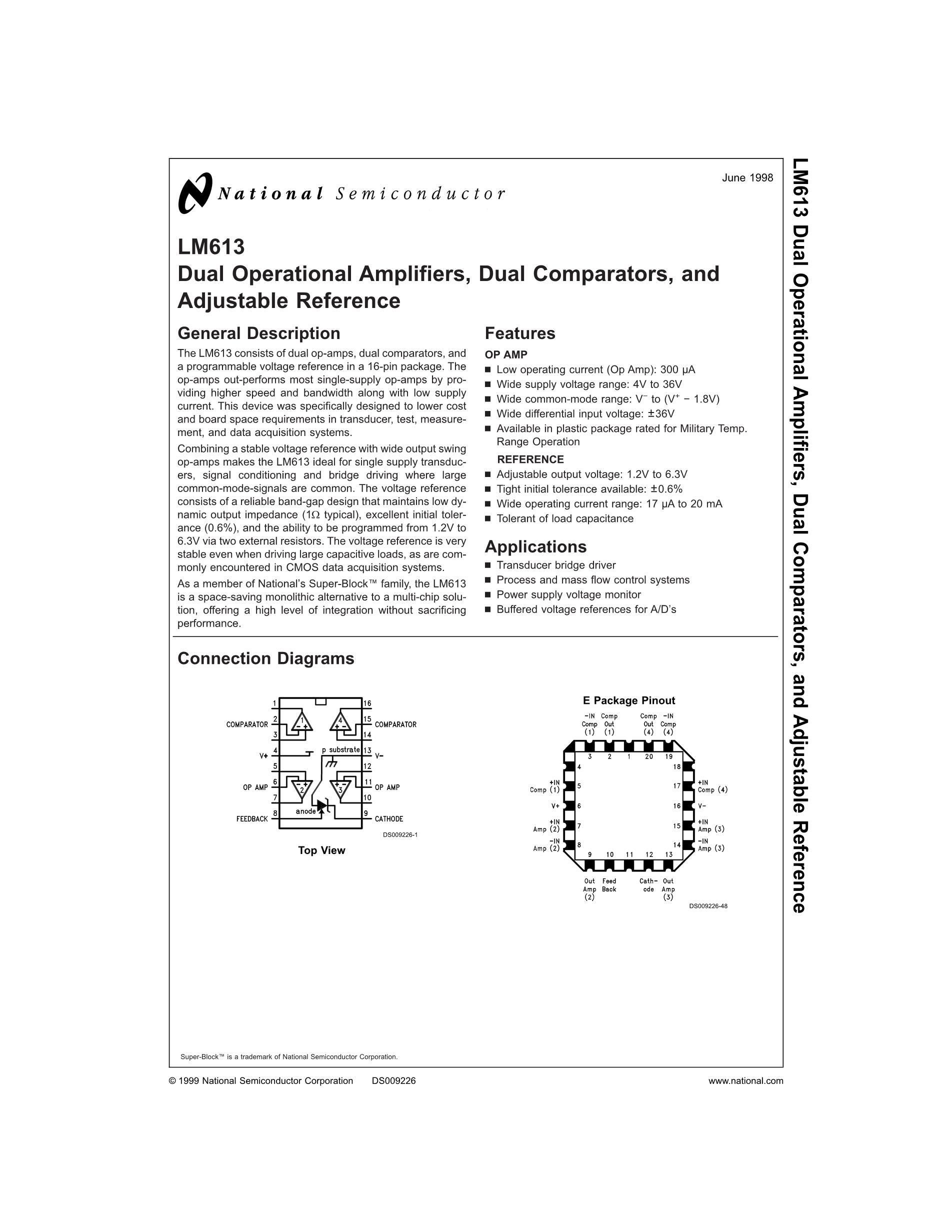 LM613AMN's pdf picture 1