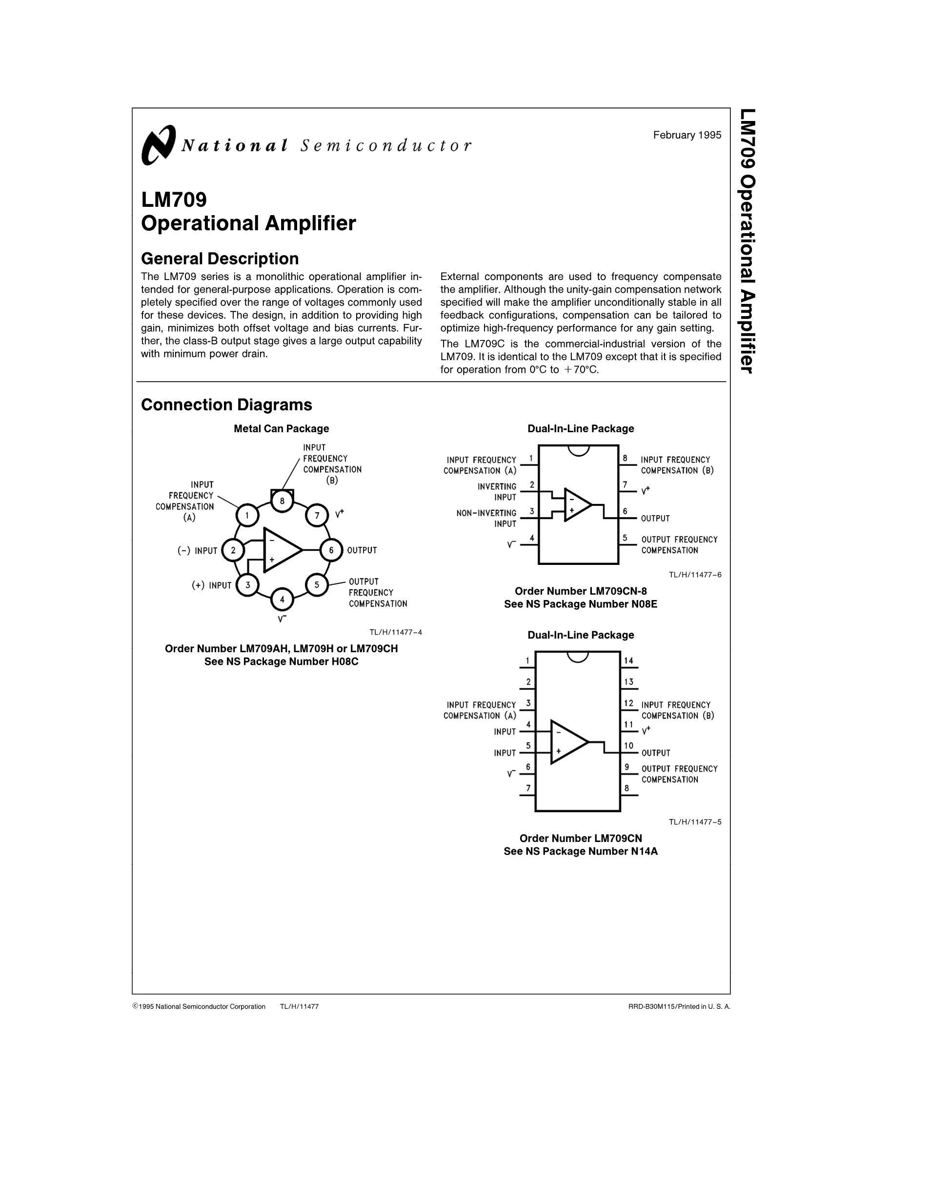 LM709-8's pdf picture 1