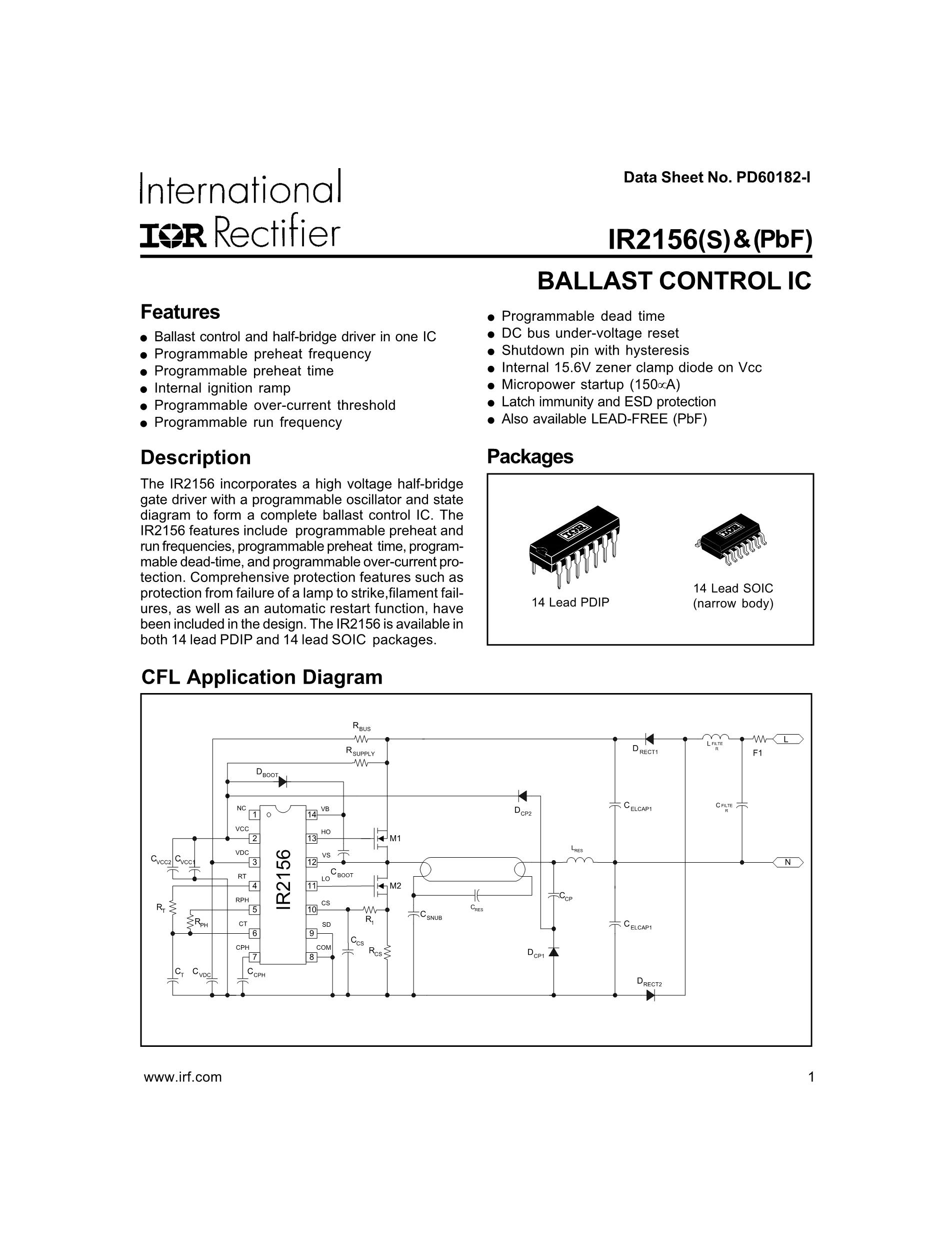 IR2156S's pdf picture 1