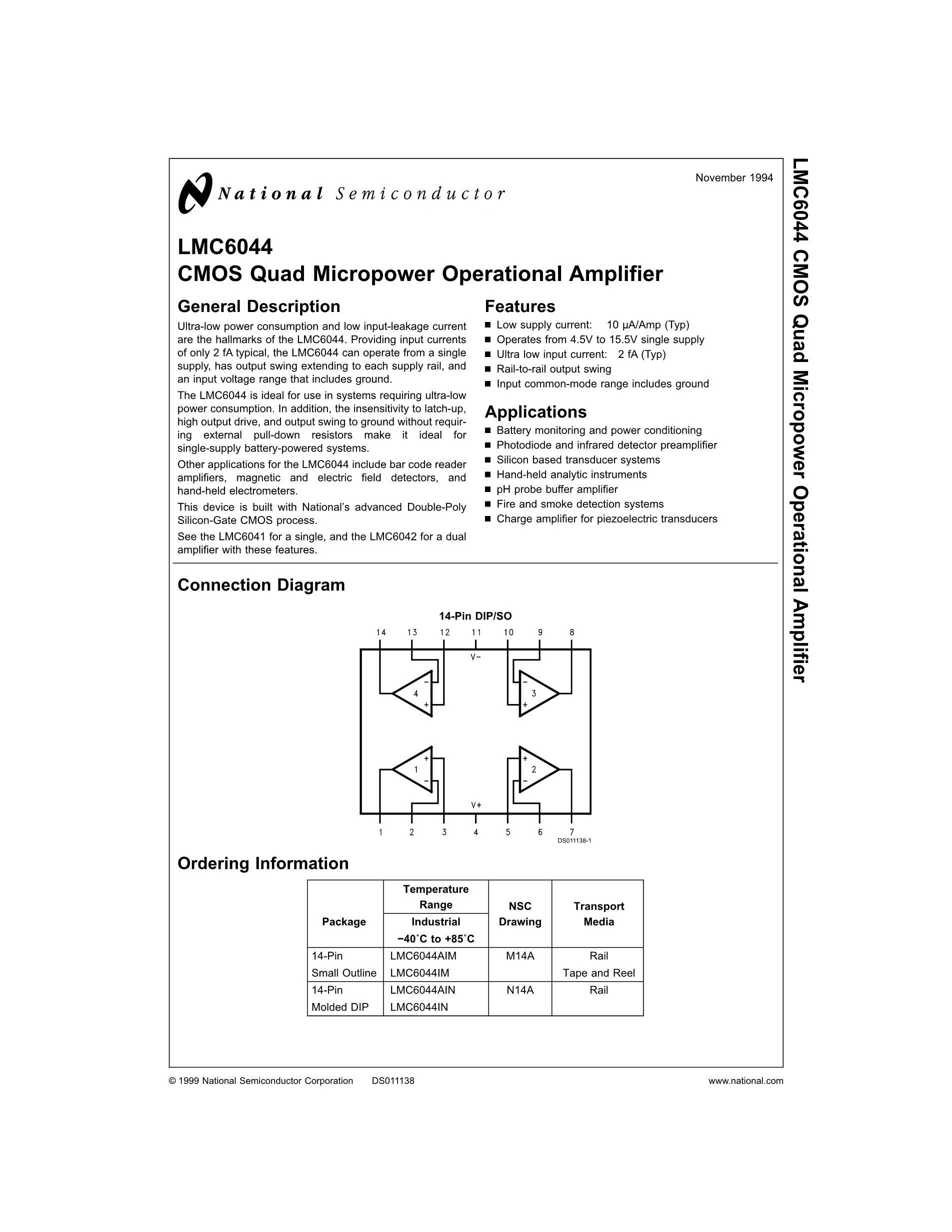 LMC6584BIM's pdf picture 1