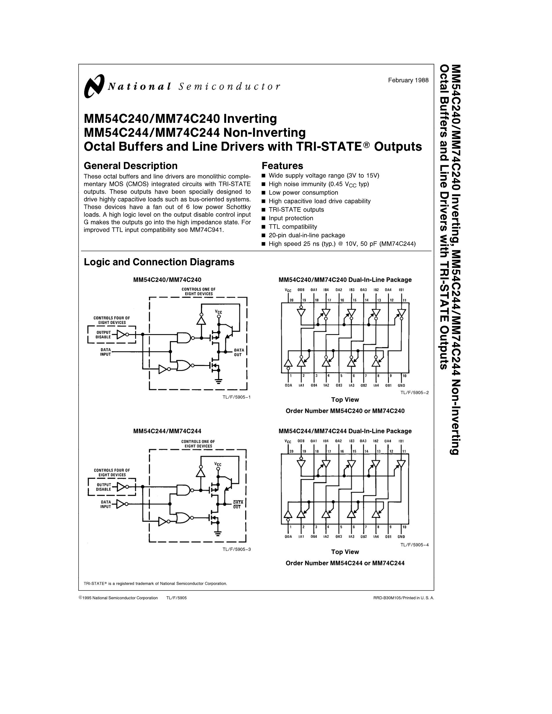 MM74C244N's pdf picture 1