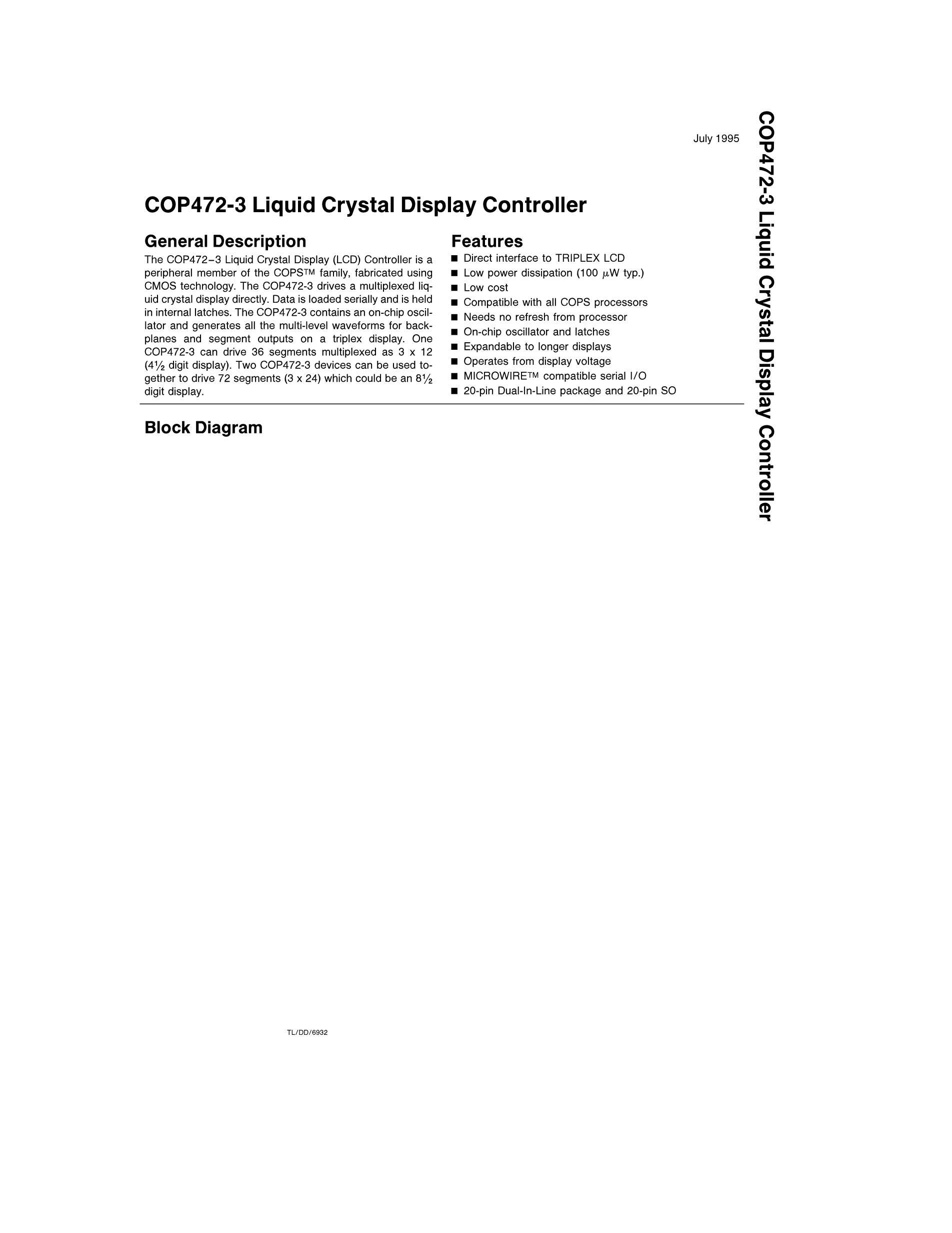 COP472N-3/NOPB's pdf picture 1