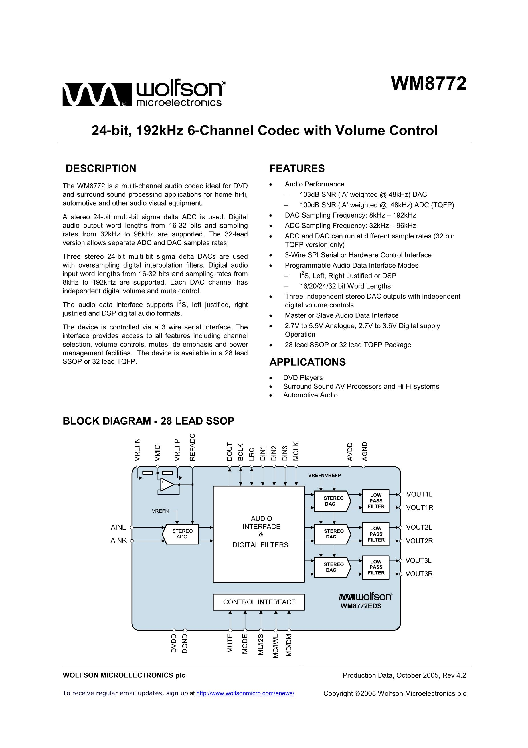 WM8783GED/RV's pdf picture 1