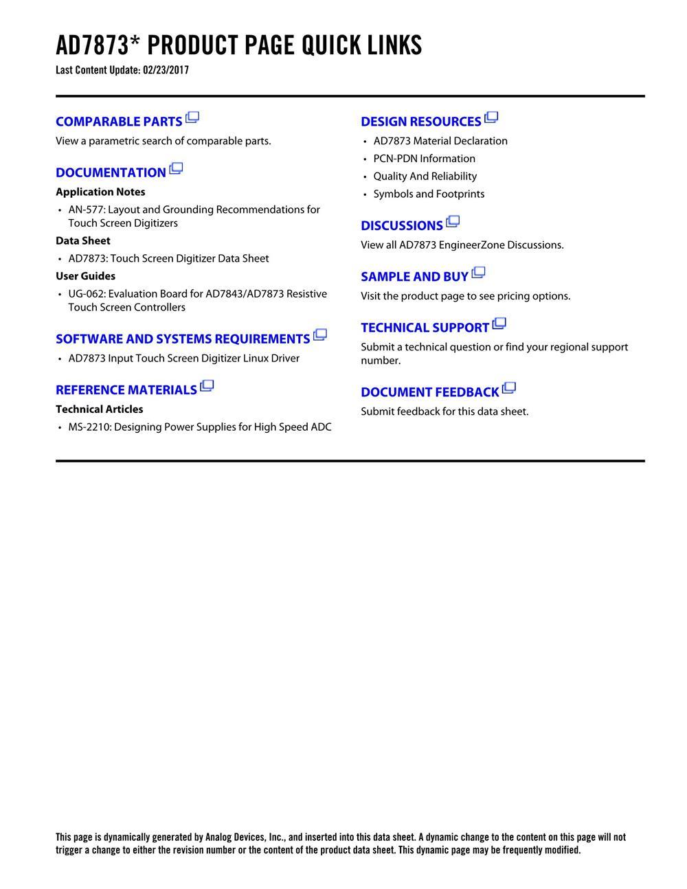 AD7873ARUZ's pdf picture 2