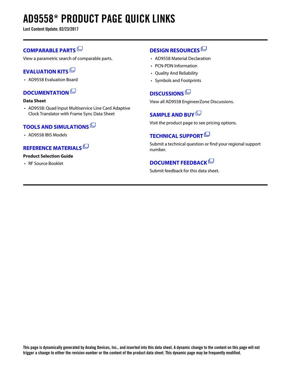 AD9558BCPZ's pdf picture 2