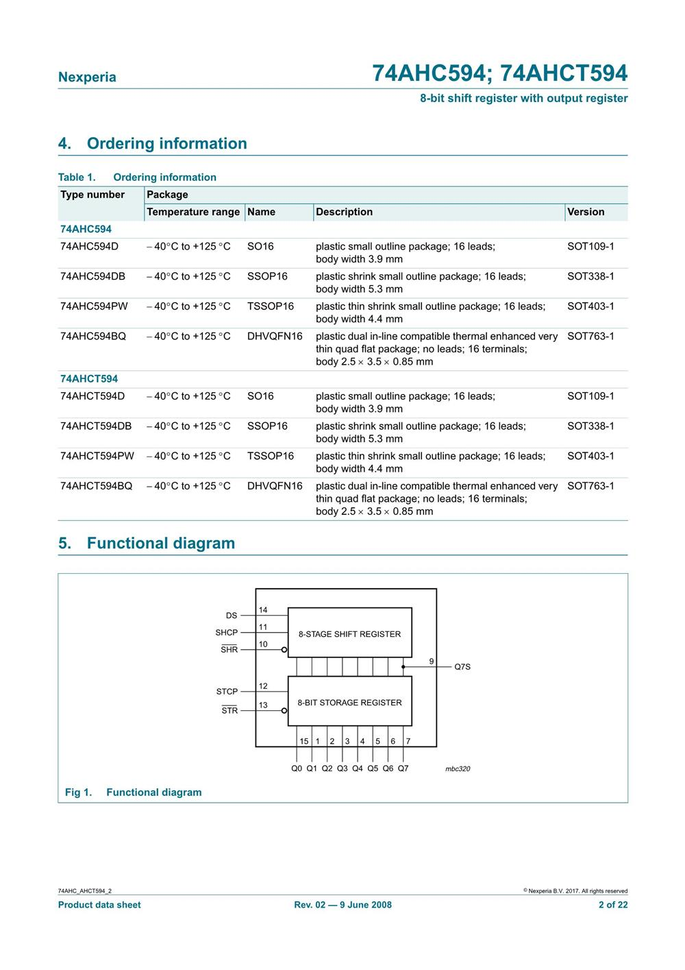 74AHC594DB,112's pdf picture 2