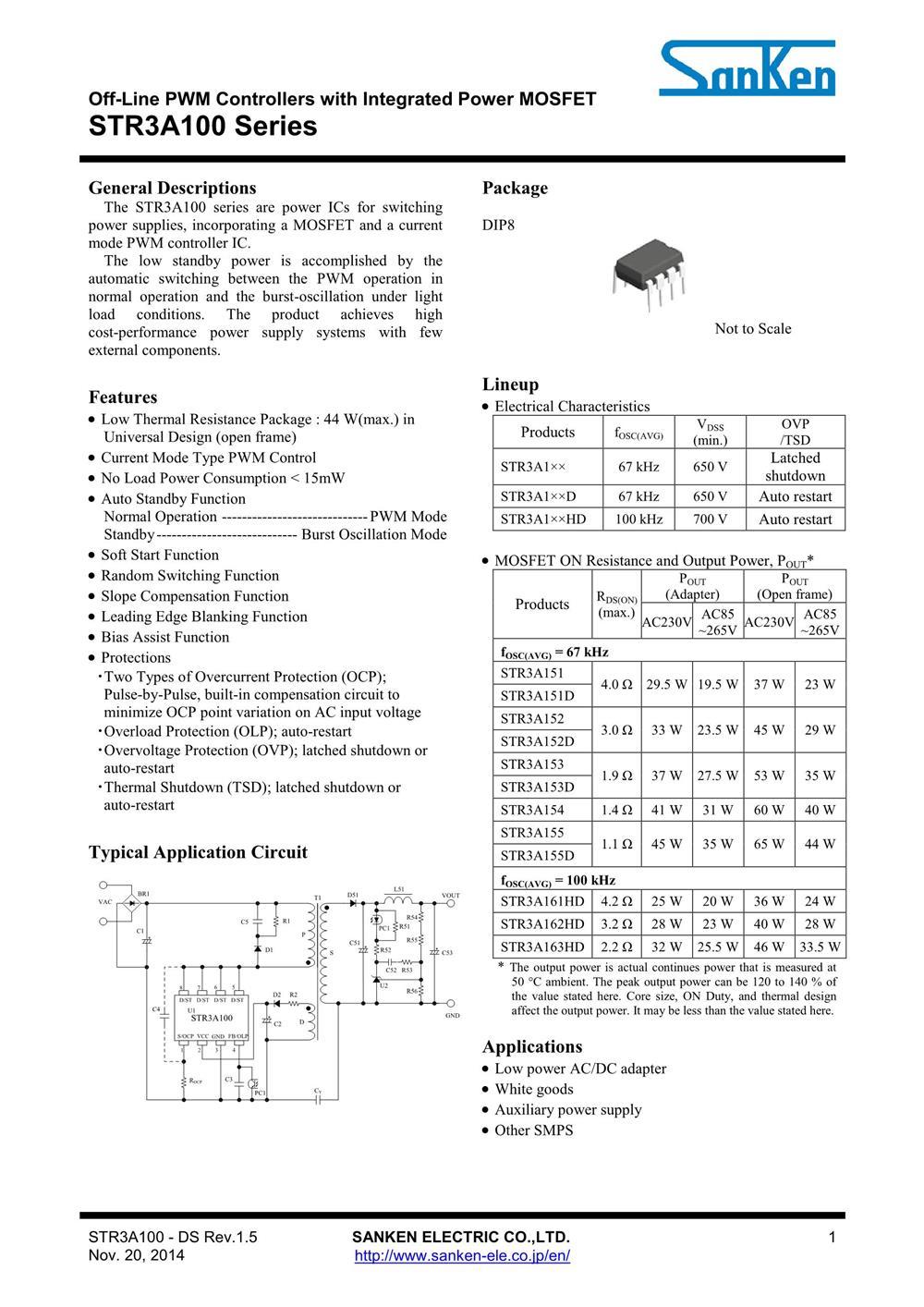 STR3A153D's pdf picture 1