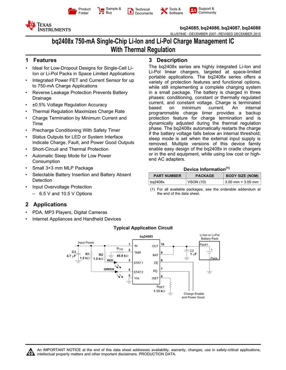 BQ24088DRCR's pdf picture 1