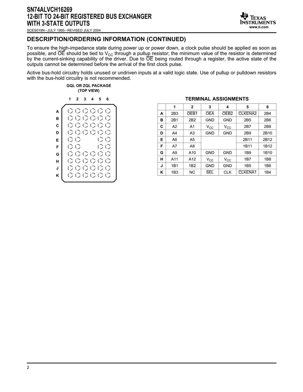 SN74ALVCH16269DGGR's pdf picture 2