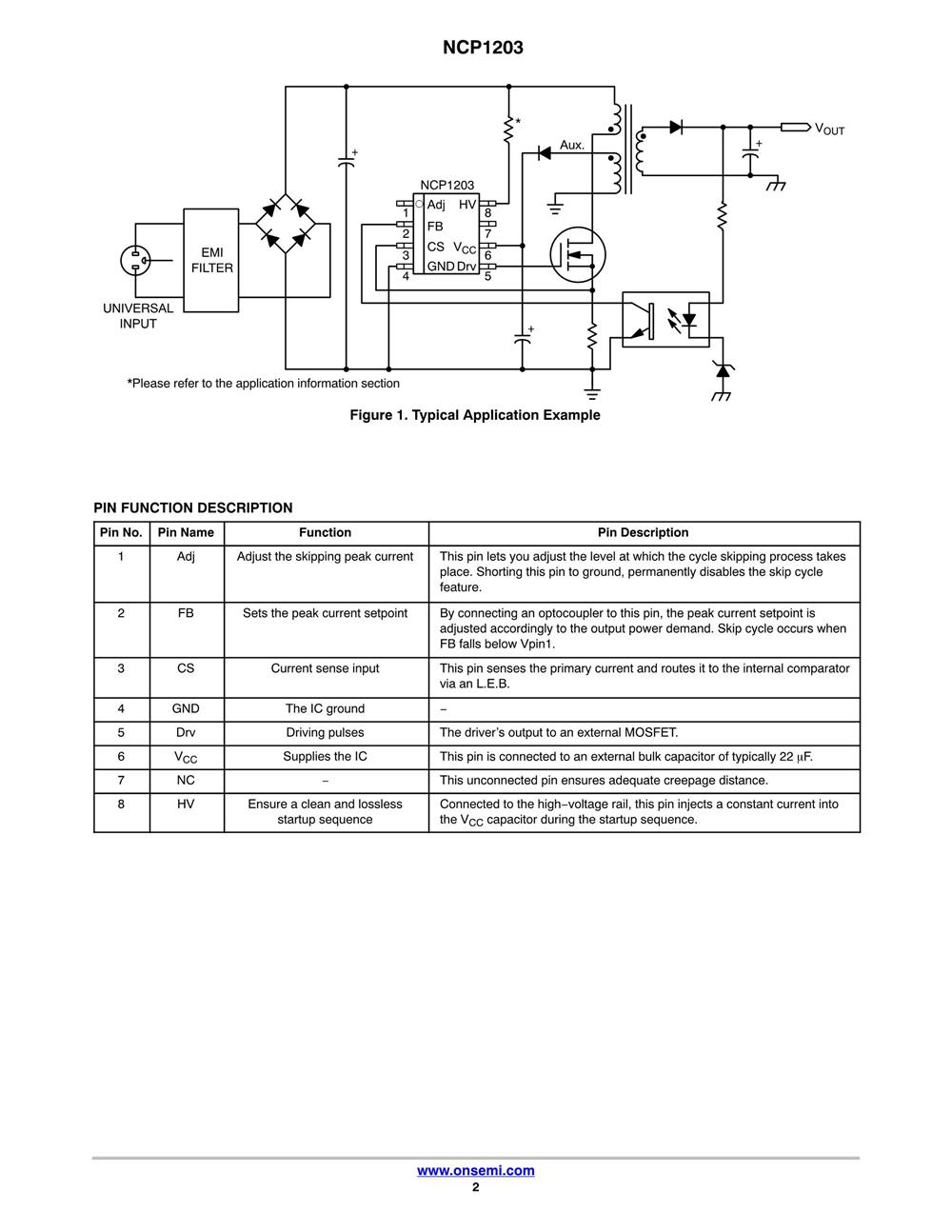 NCP1203P100G's pdf picture 2