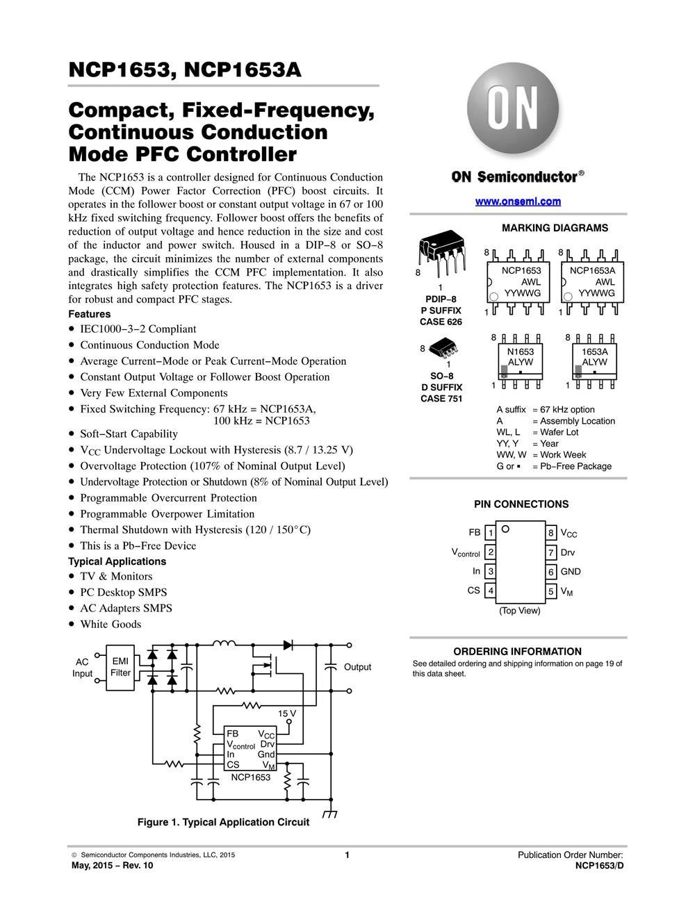 NCP1653ADR2G's pdf picture 1