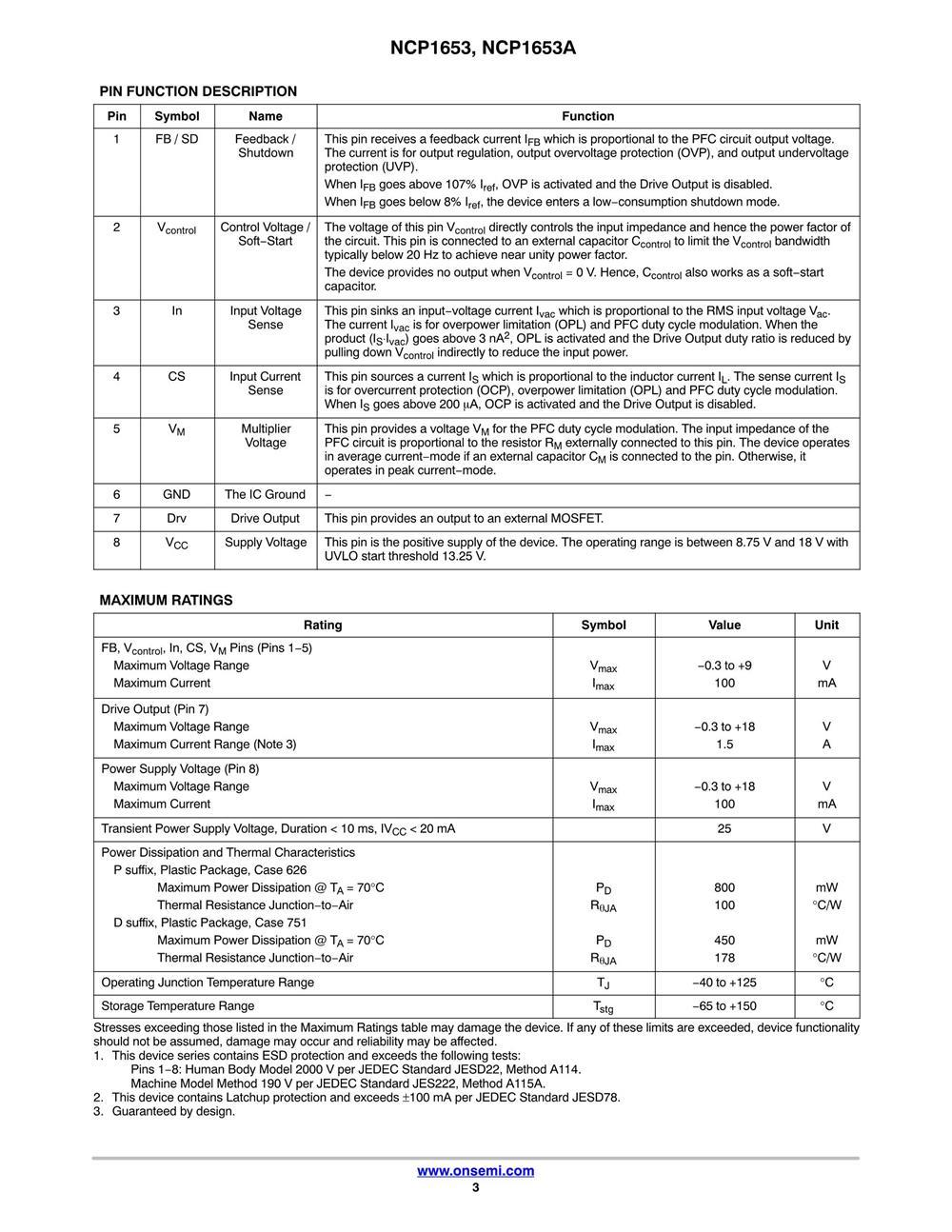 NCP1653ADR2G's pdf picture 3